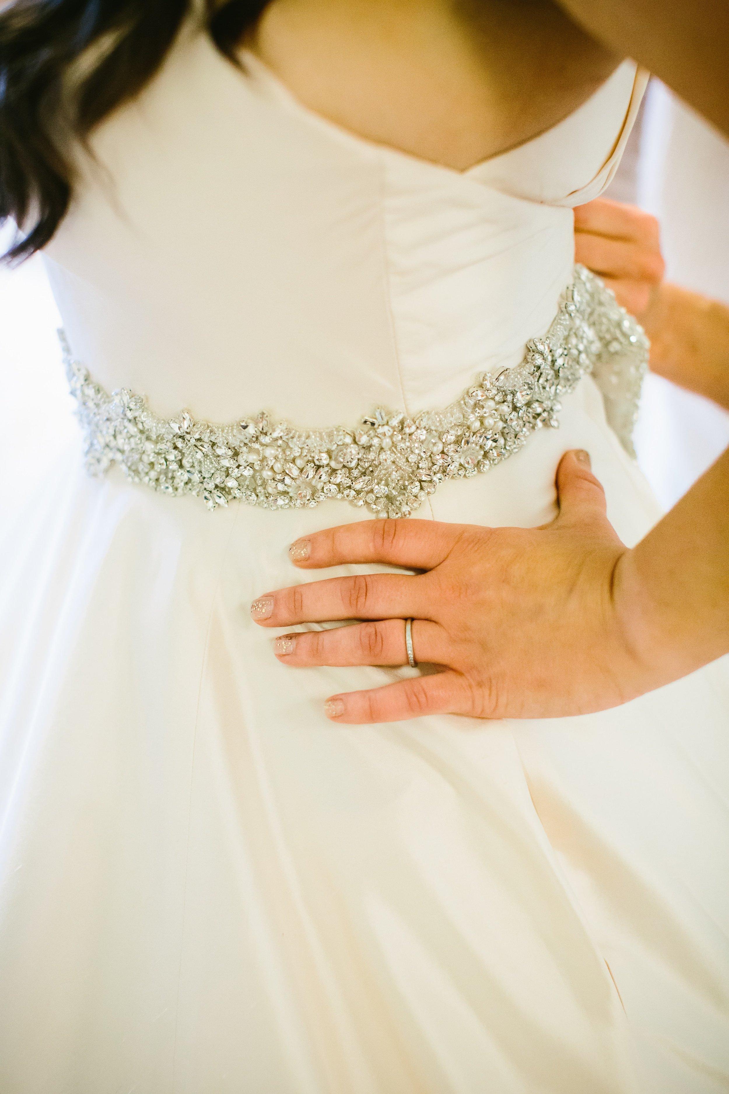 4 Tiffany engagement ring, glitter nail polish, and Watters crystal belt
