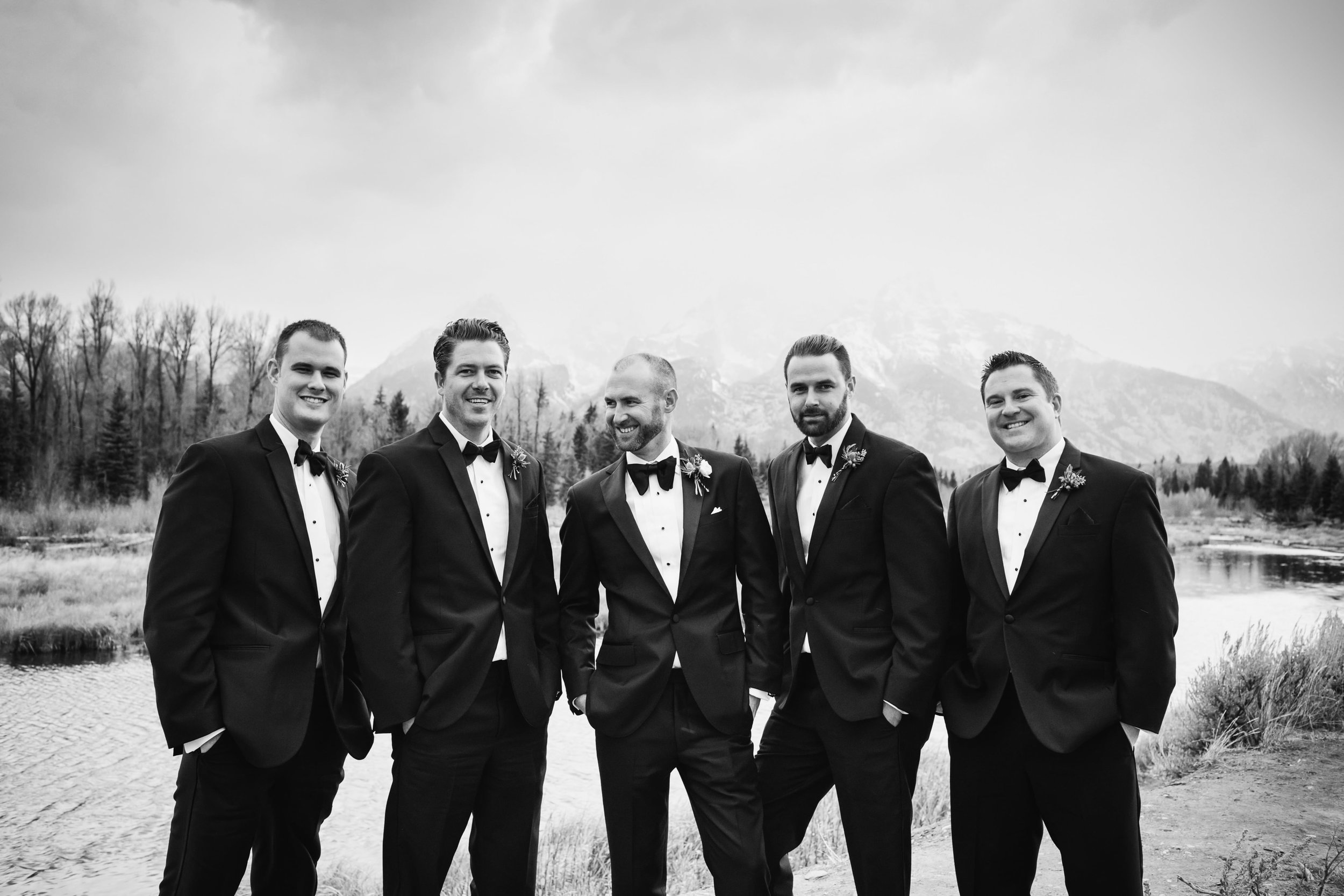 13 Richie and his groomsmen in Menguin tuxes