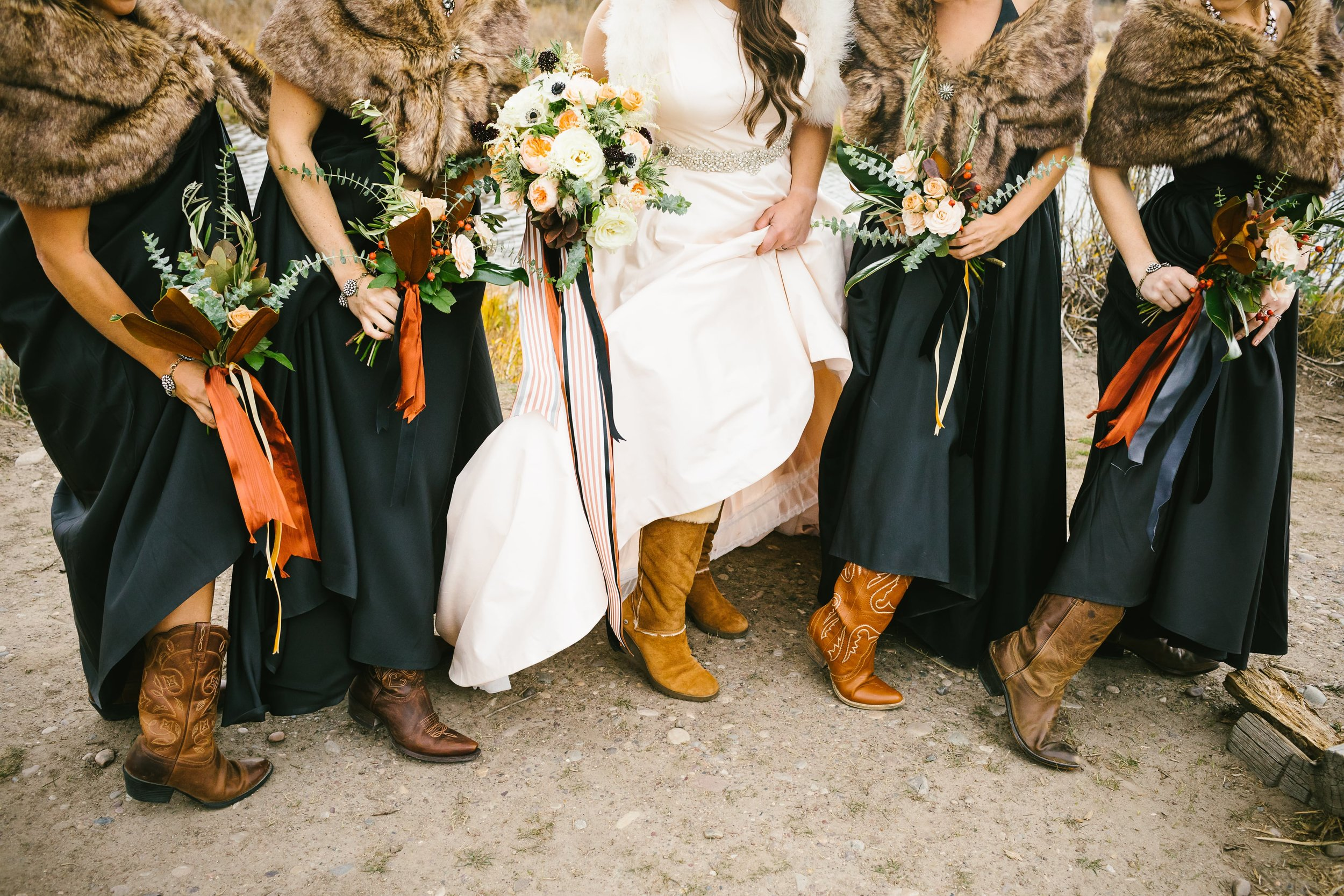 14 One of Tanya's favorite photos of all the bridesmaids' boots