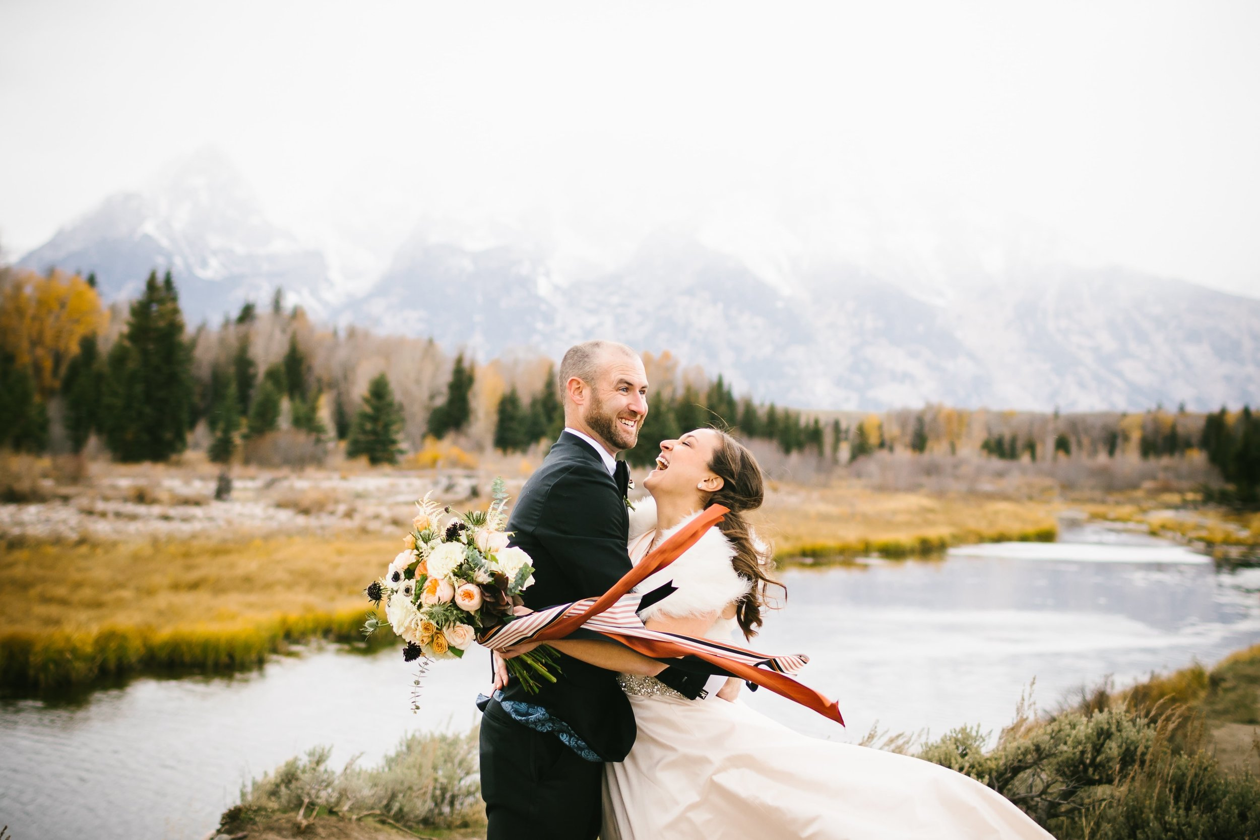 17 It was windy and perfectly fall during our wedding photos