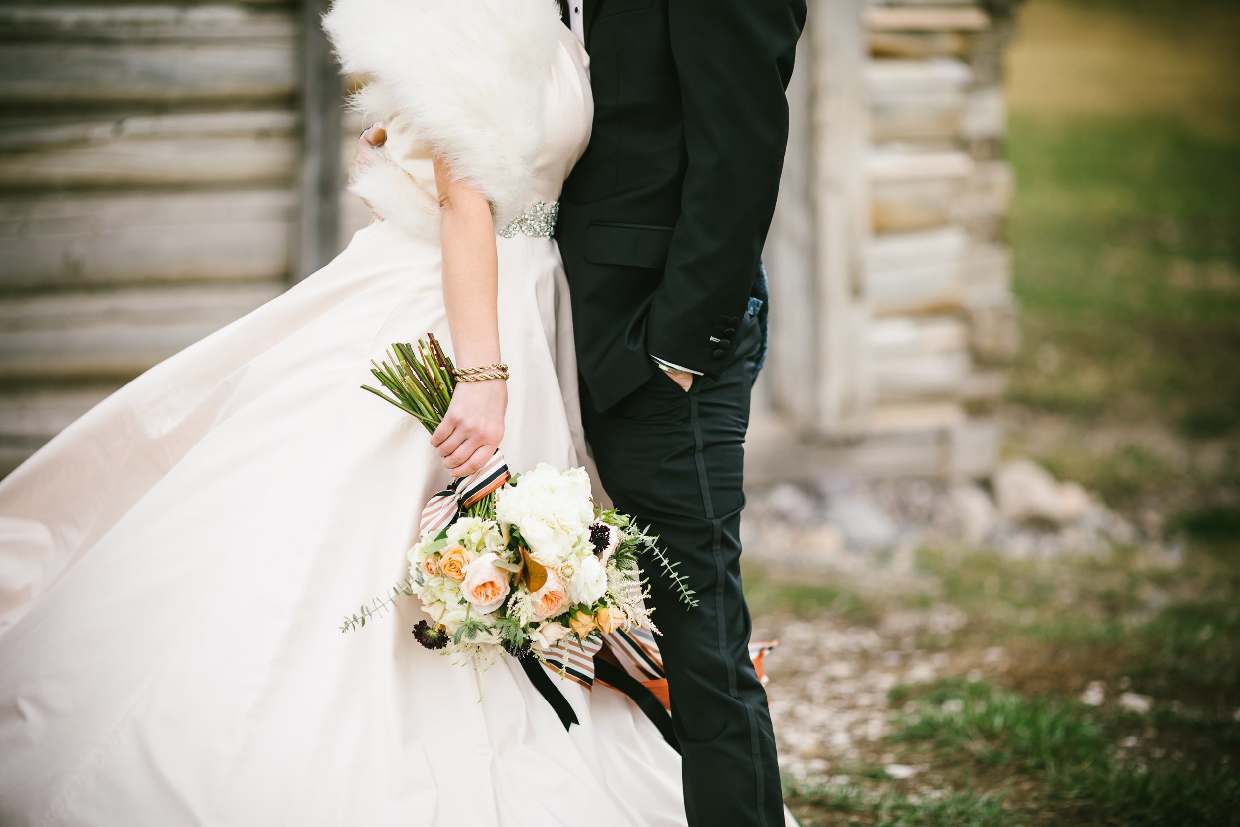 20 Classic details of our gown and tuxedo photo