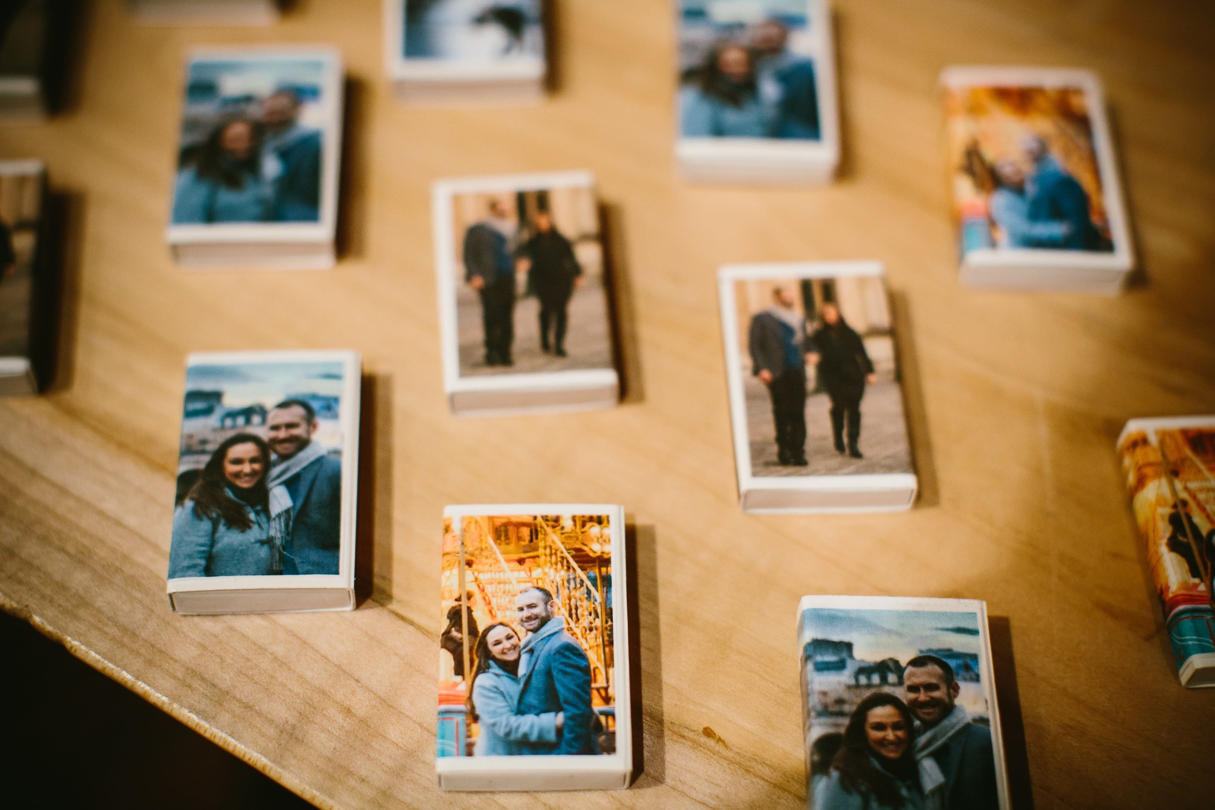 29 Our handmade DIY matches featuring our Paris engagement photos