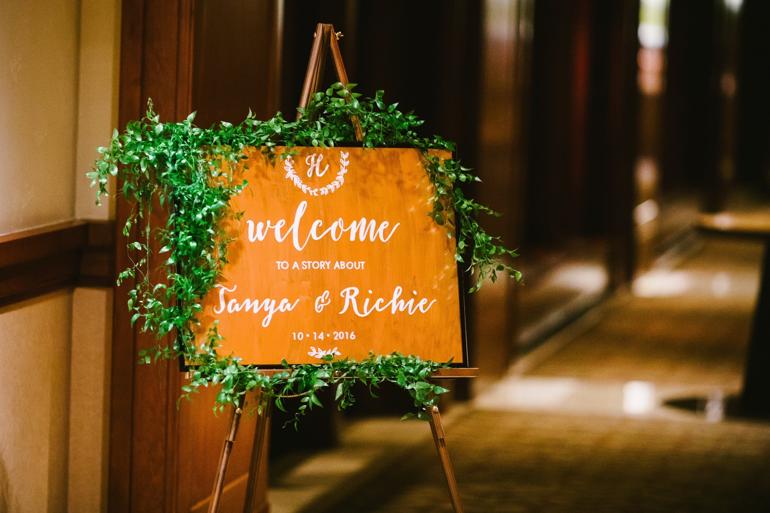 33 Welcome to a story about Tanya and Richie wedding welcome sign