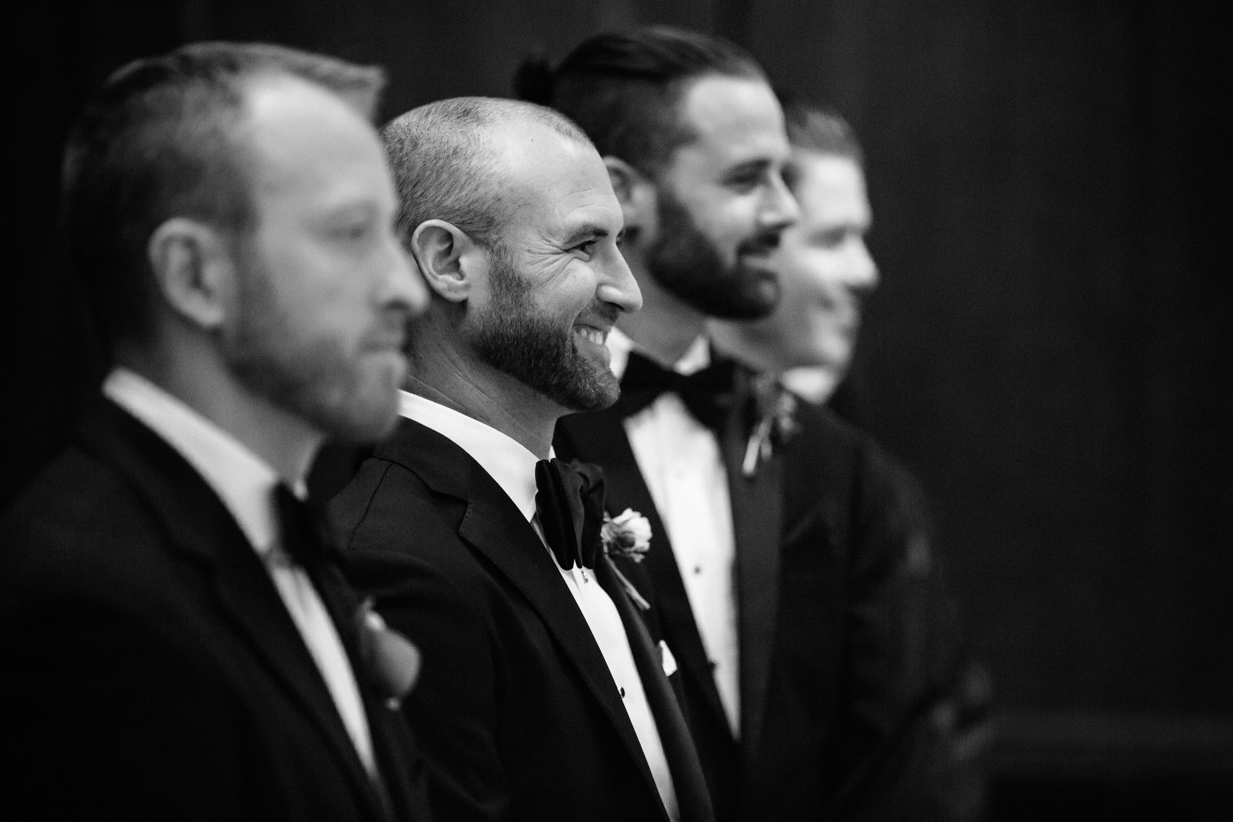 34 Richie's reaction as he sees Tanya walk down the aisle