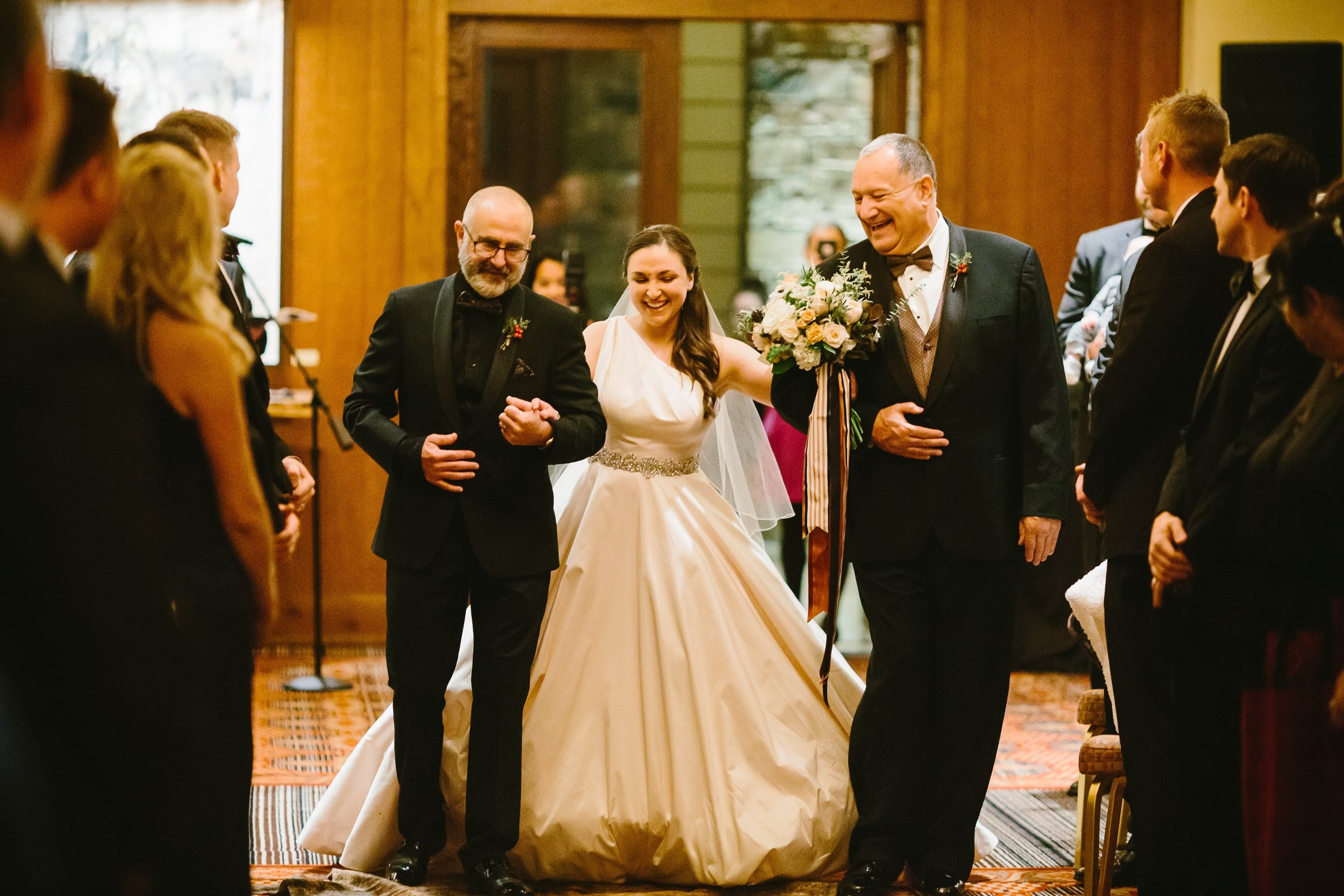 35 Tanya walked down the aisle with both her father and stepfather