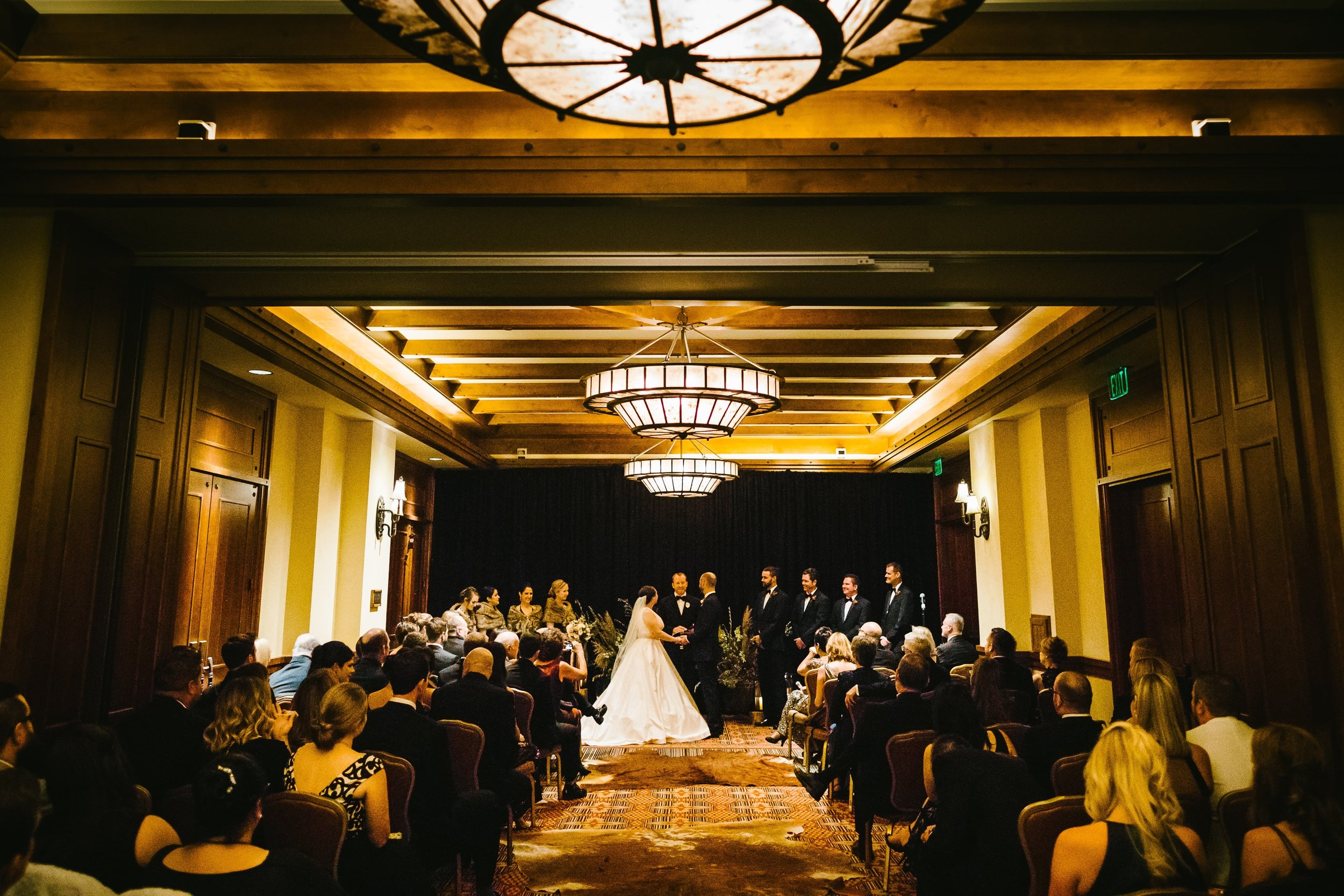 36 Our impromptu ceremony in the Four Seasons ballroom due to rain
