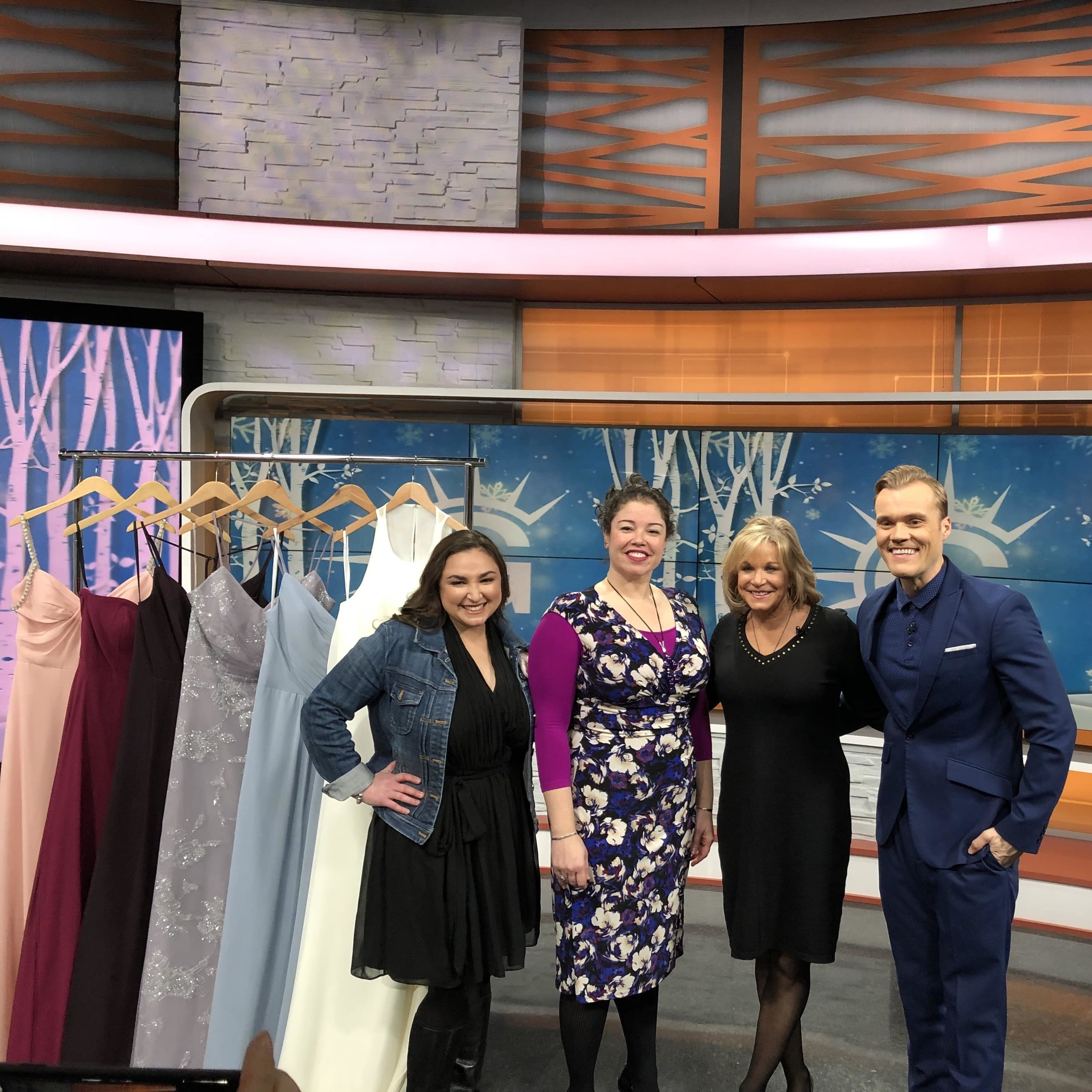 On the Good Day Columbus set with Tanya Hartman and Jenna Homan of Fairy Goodmothers