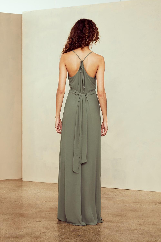Amsale Nouvelle Bridesmaids dress style Joy in Obi Belt detail collection