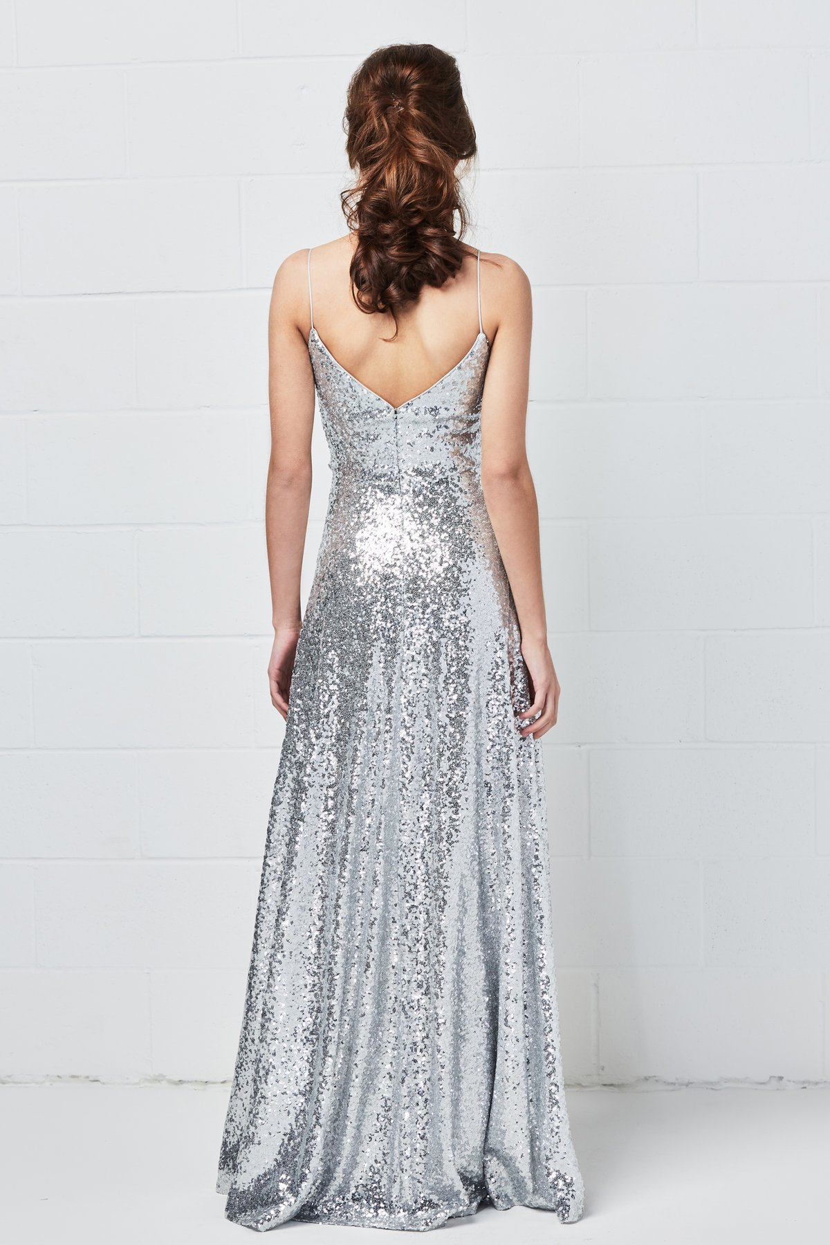 Back of Anzen style by Watters Bridesmaids in sequin