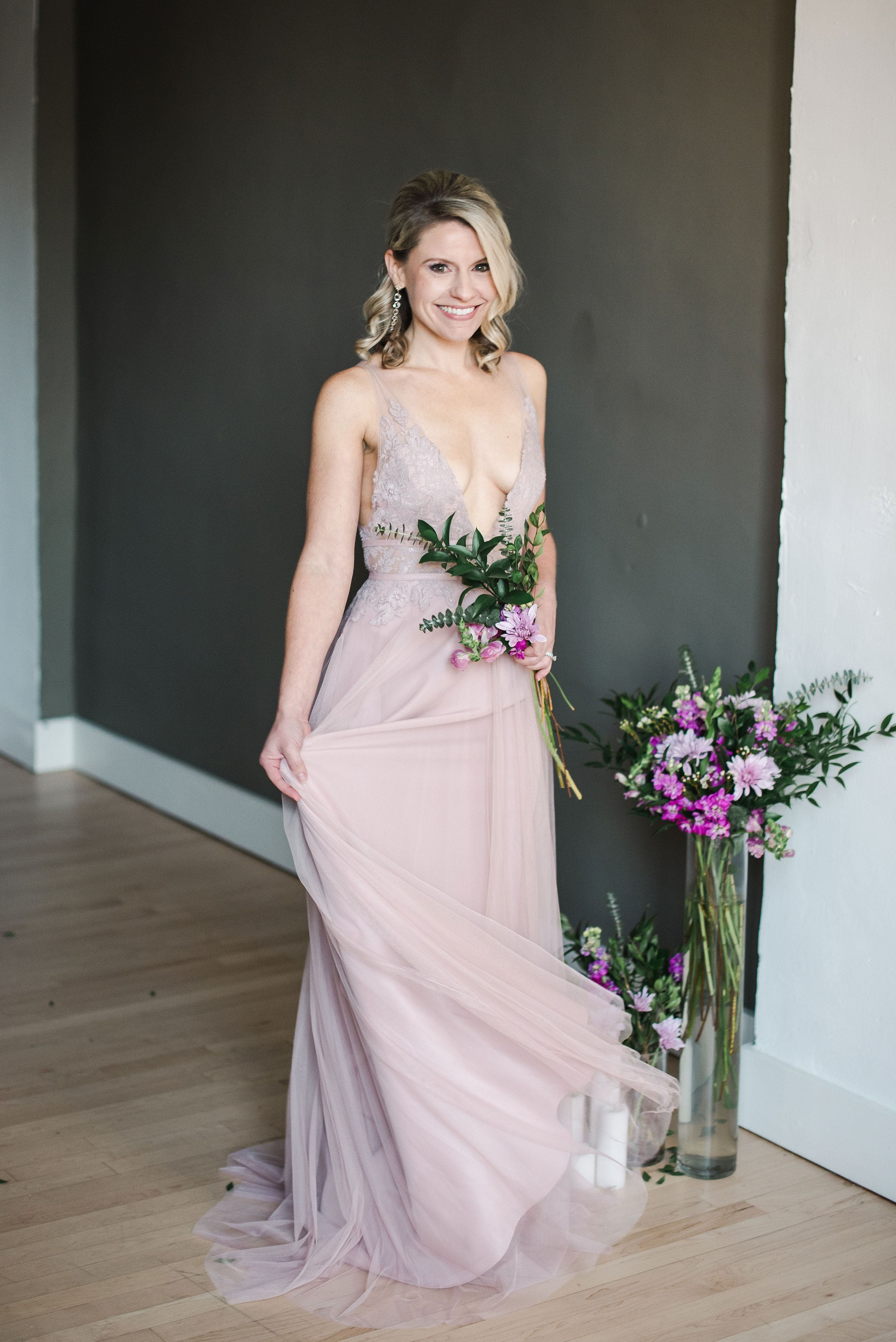 Brielle by Watters in blush Spring 2019 trends shoot for Oh the Heart