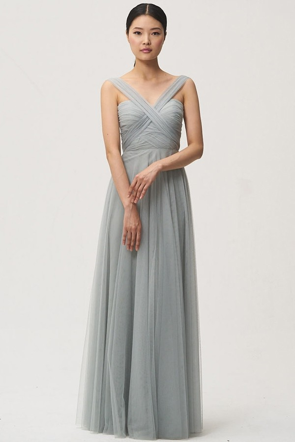 Cross front detail straps on Julia by Jenny Yoo Bridesmaids