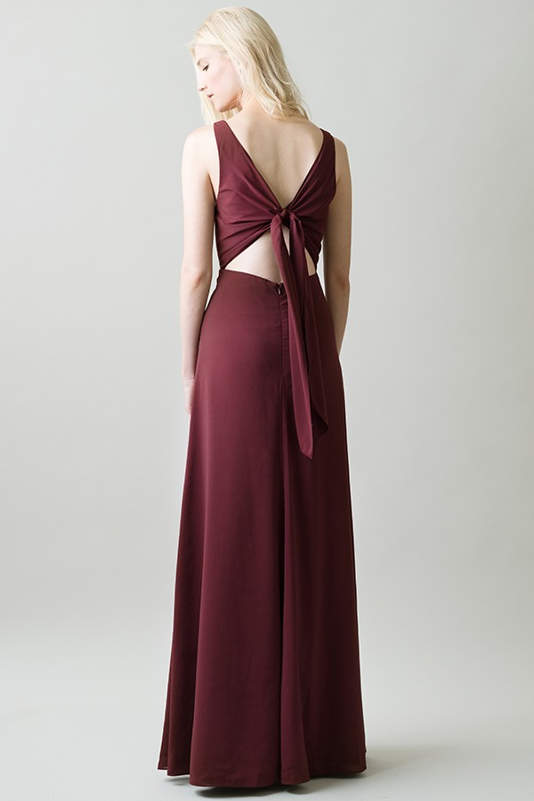 Back detail of tie sash on Delaney by Jenny Yoo Bridesmaids