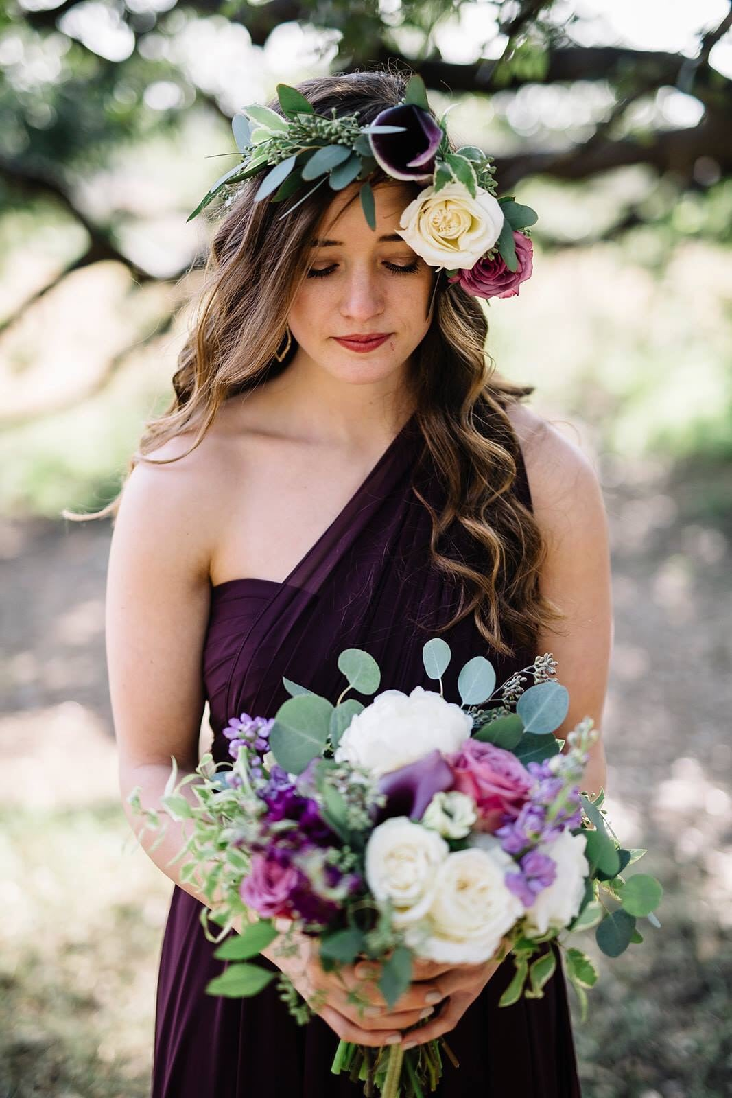 Mira in black currant by Jenny Yoo Bridesmaids