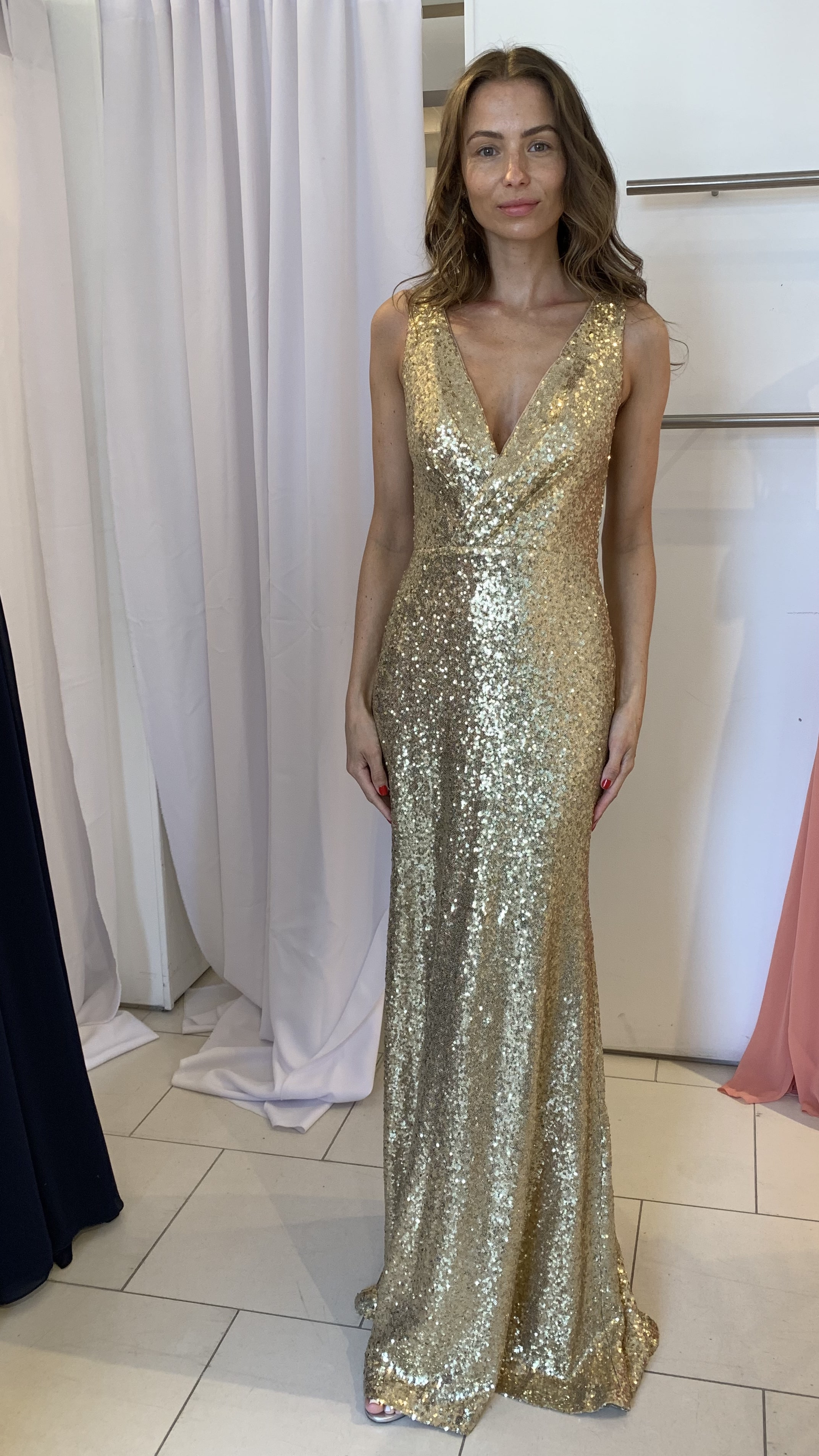 Glam Gold Sequins by Theia