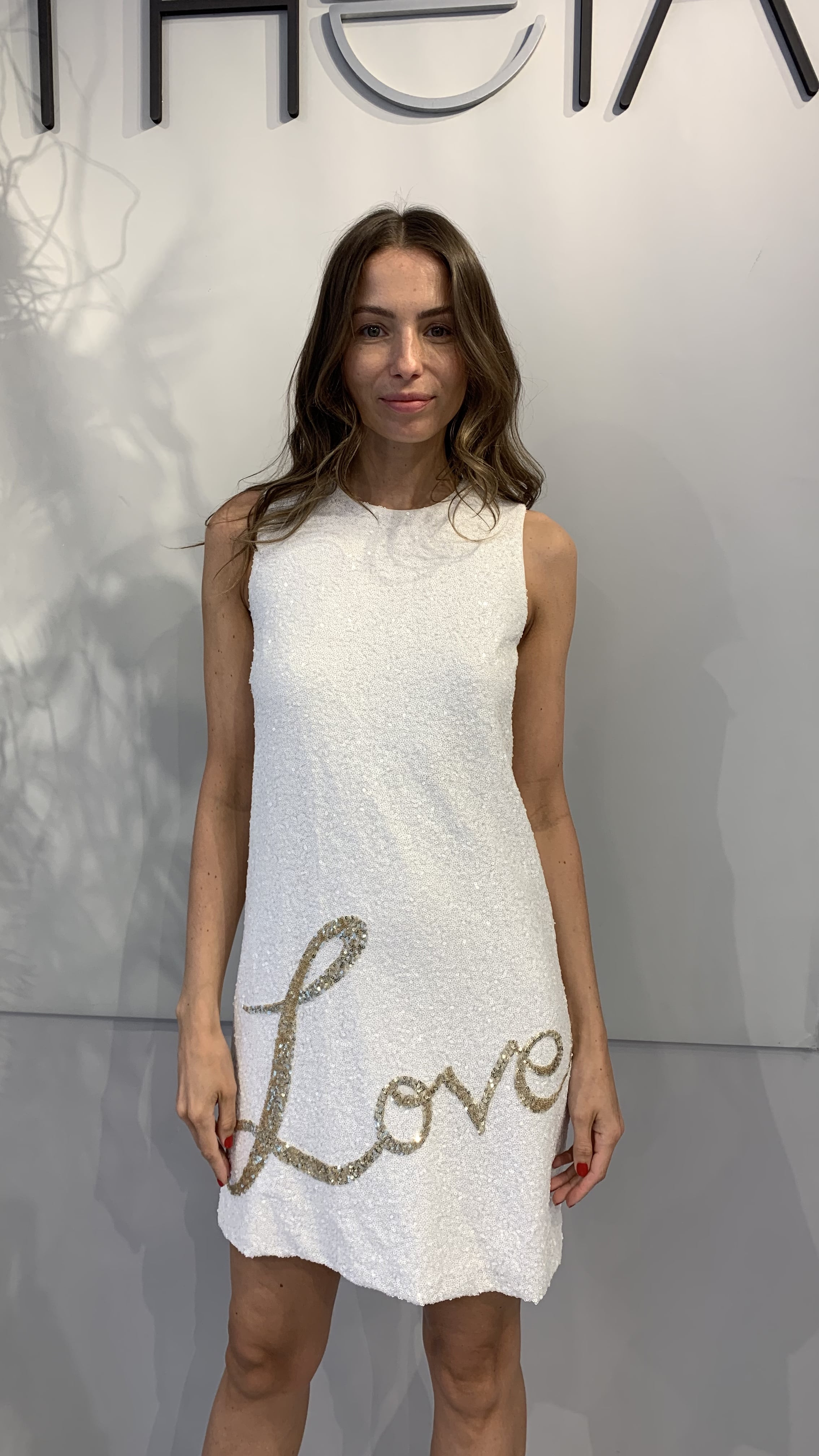 Love Sequin Dress by Theia