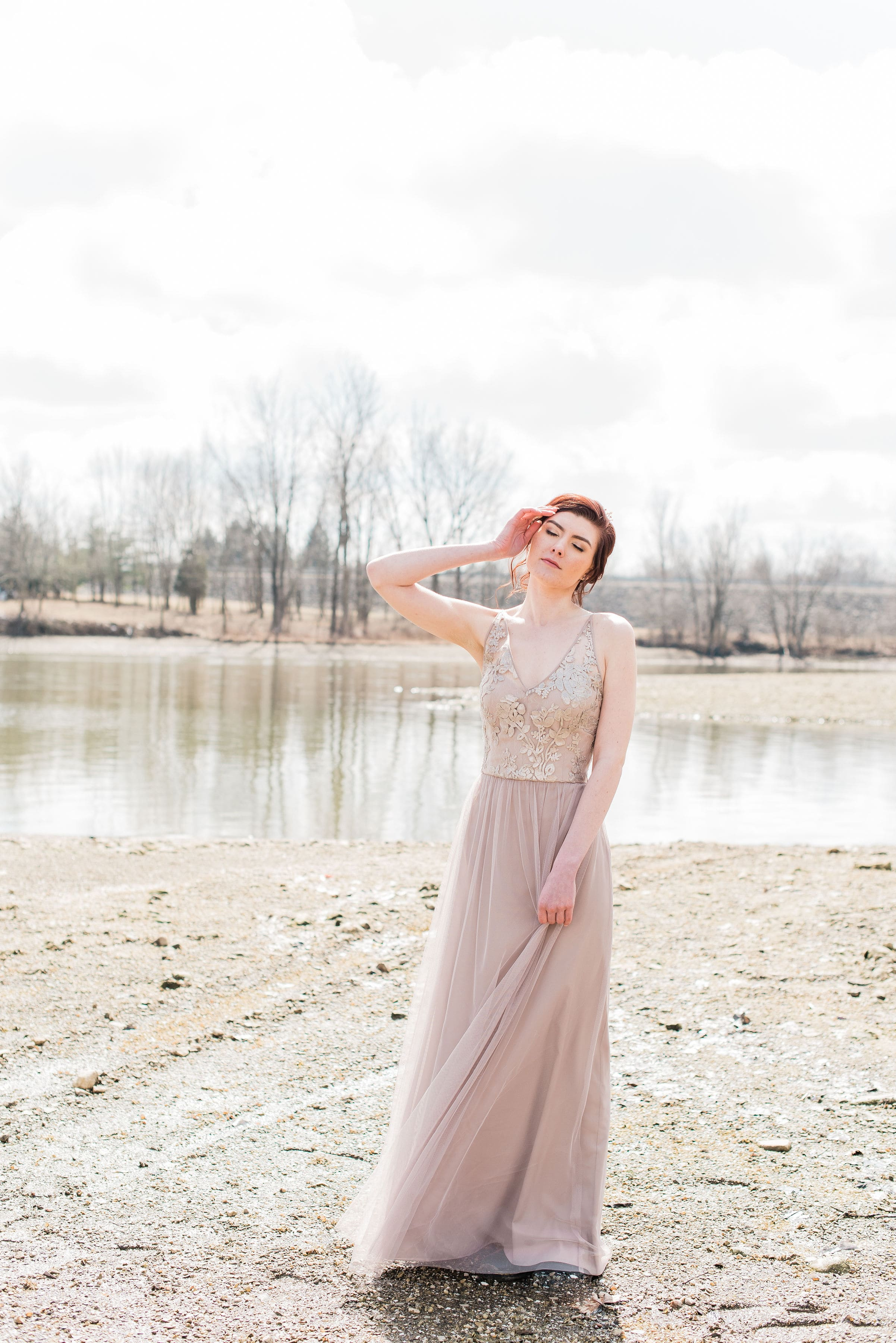 Sora in Latte by Amsale Bridesmaids in Columbus Ohio photo shoot
