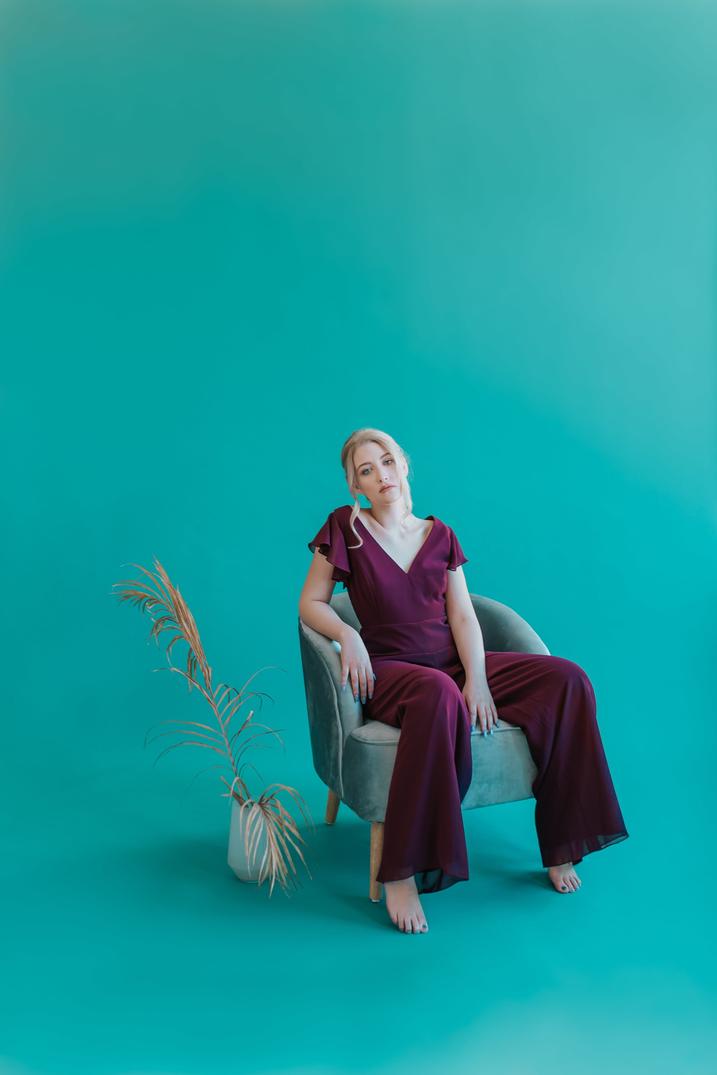 Dessy Collection styled shoot featuring Adelaide jumpsuit for bridesmaids