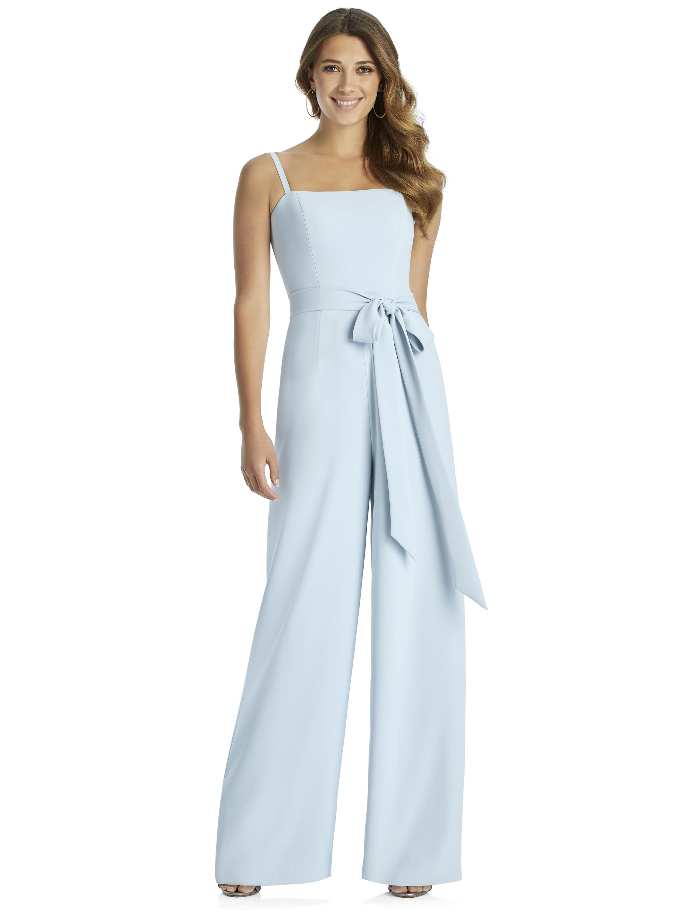 Adelaide jumpsuit by Dessy Group in mist crepe style 3045