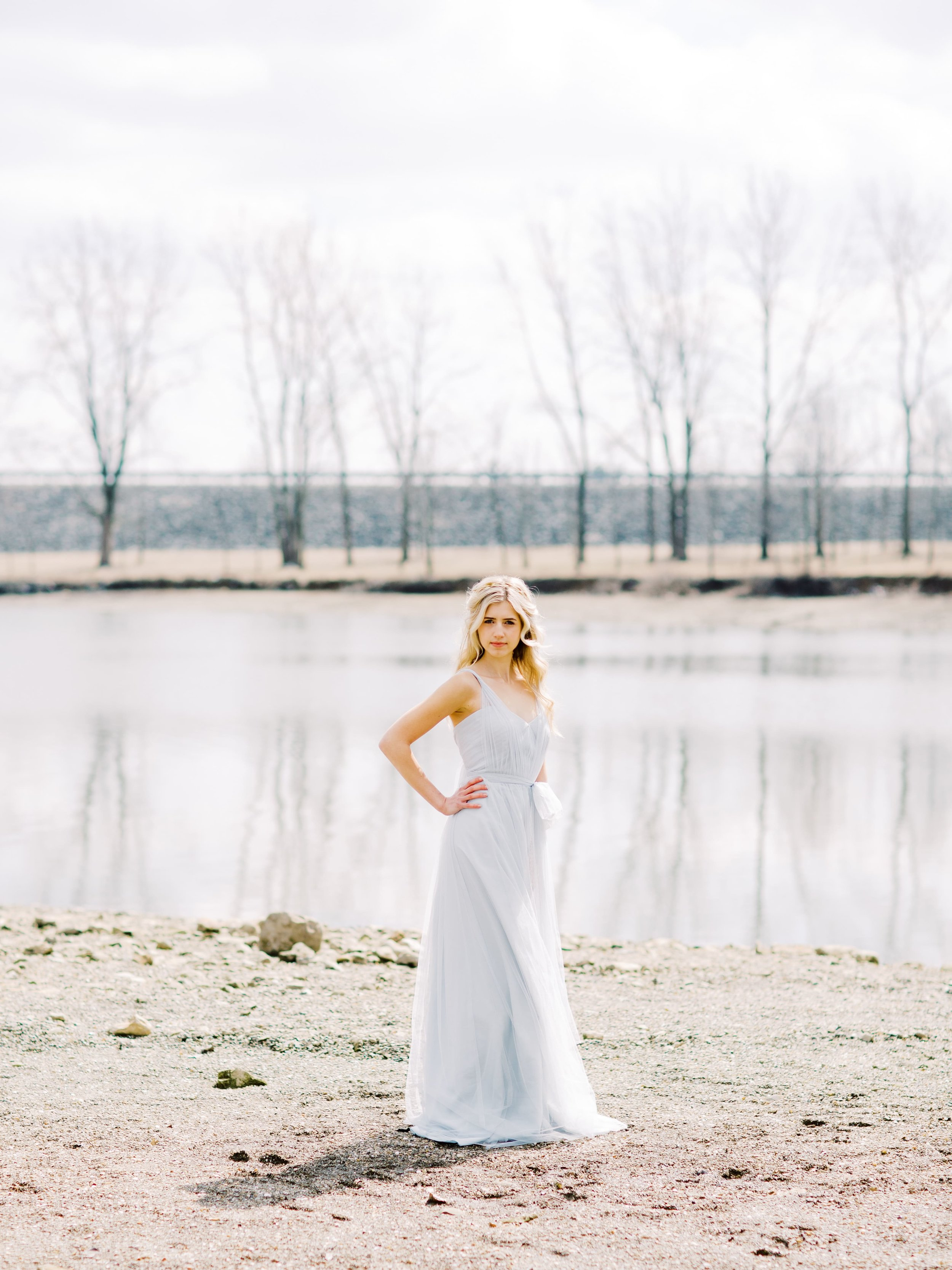 Jenny Yoo Bridesmaids style Annabelle in Serenity Blue tulle in Goddess shoot
