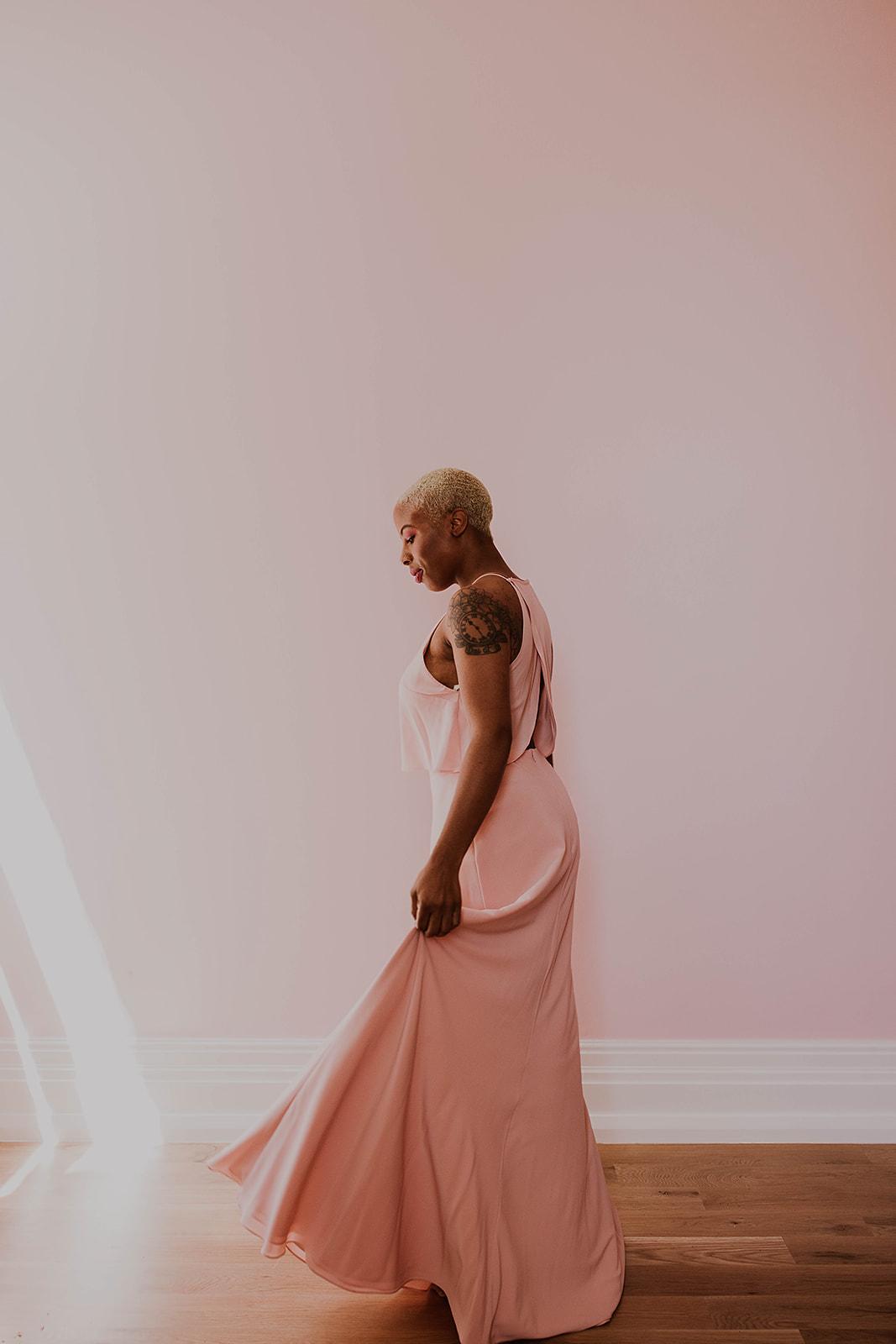 Elle dress featured in Columbus Ohio bridesmaid photo shoot