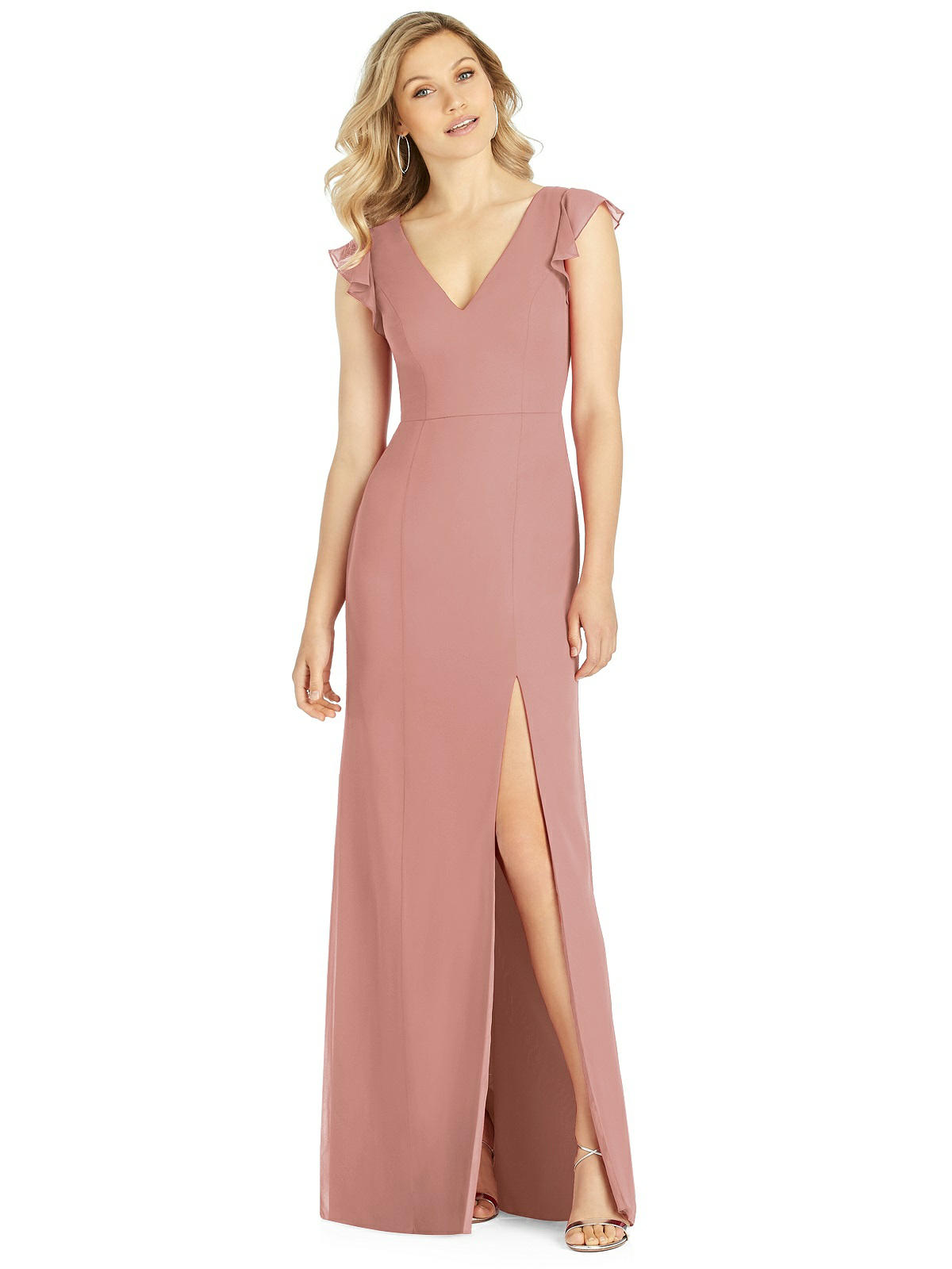 Dessy After Six style 6810 in Desert Rose chiffon by Dessy