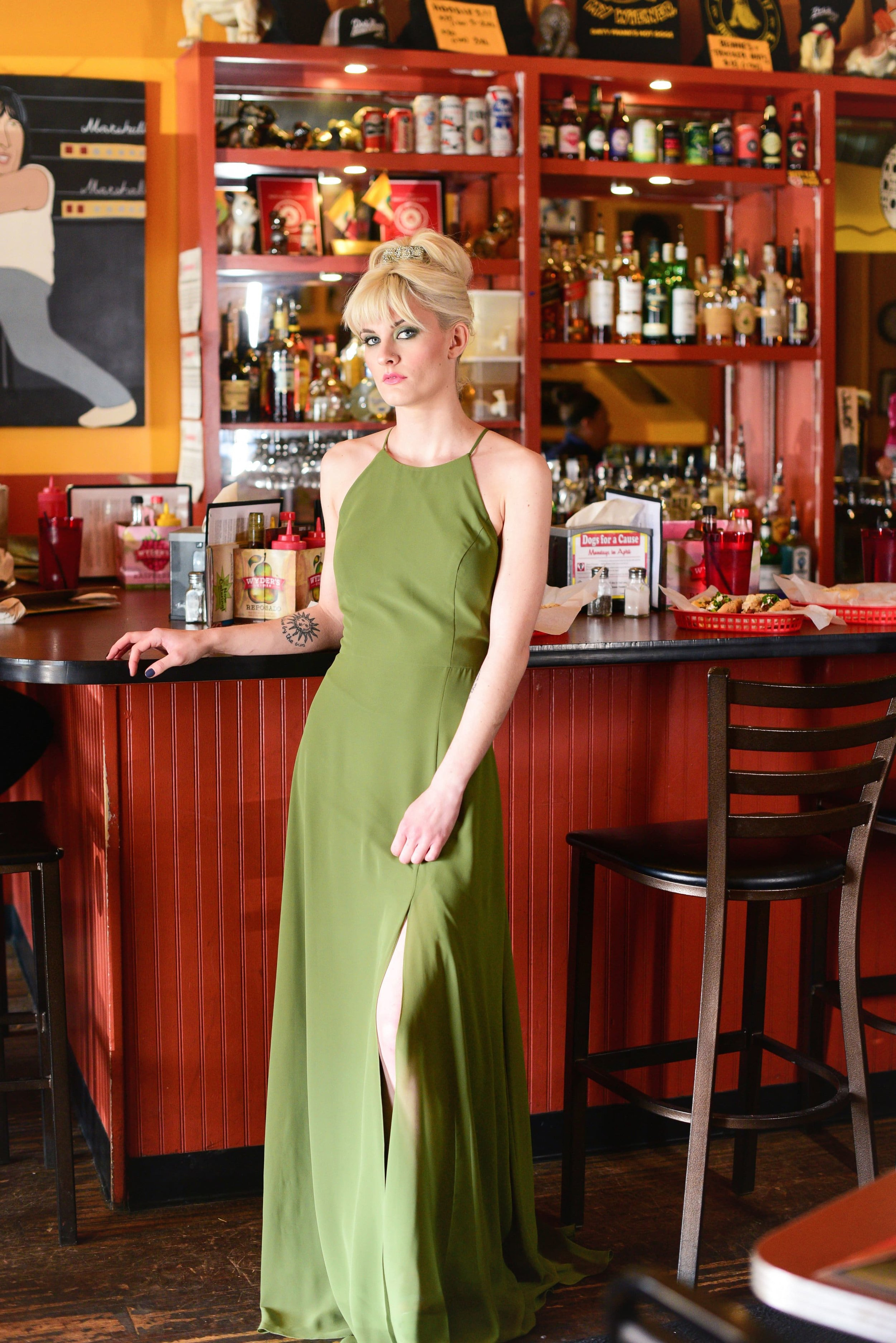 Kayla in Kiwi Green by Jenny Yoo Bridesmaids featured in Columbus Ohio Styled Shoot