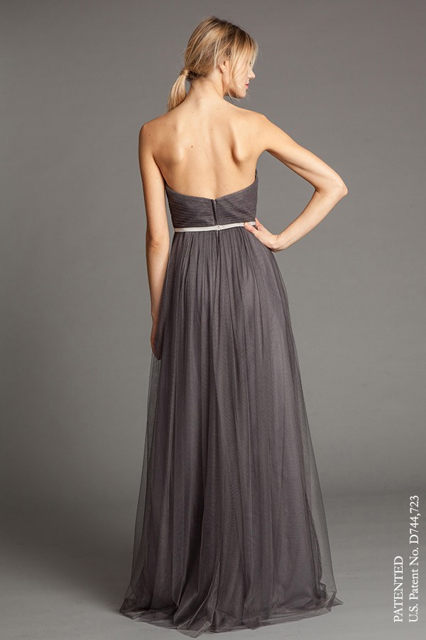 Back of Annabelle convertible dress by Jenny Yoo Bridesmaids (belt not included)