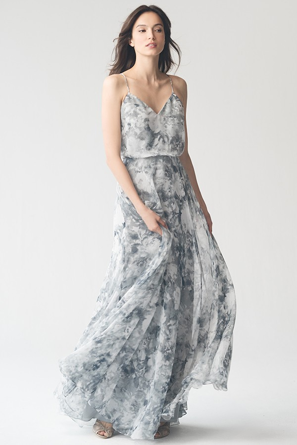 Inesse in Blue Watercolor Multi Print by Jenny Yoo Bridesmaids