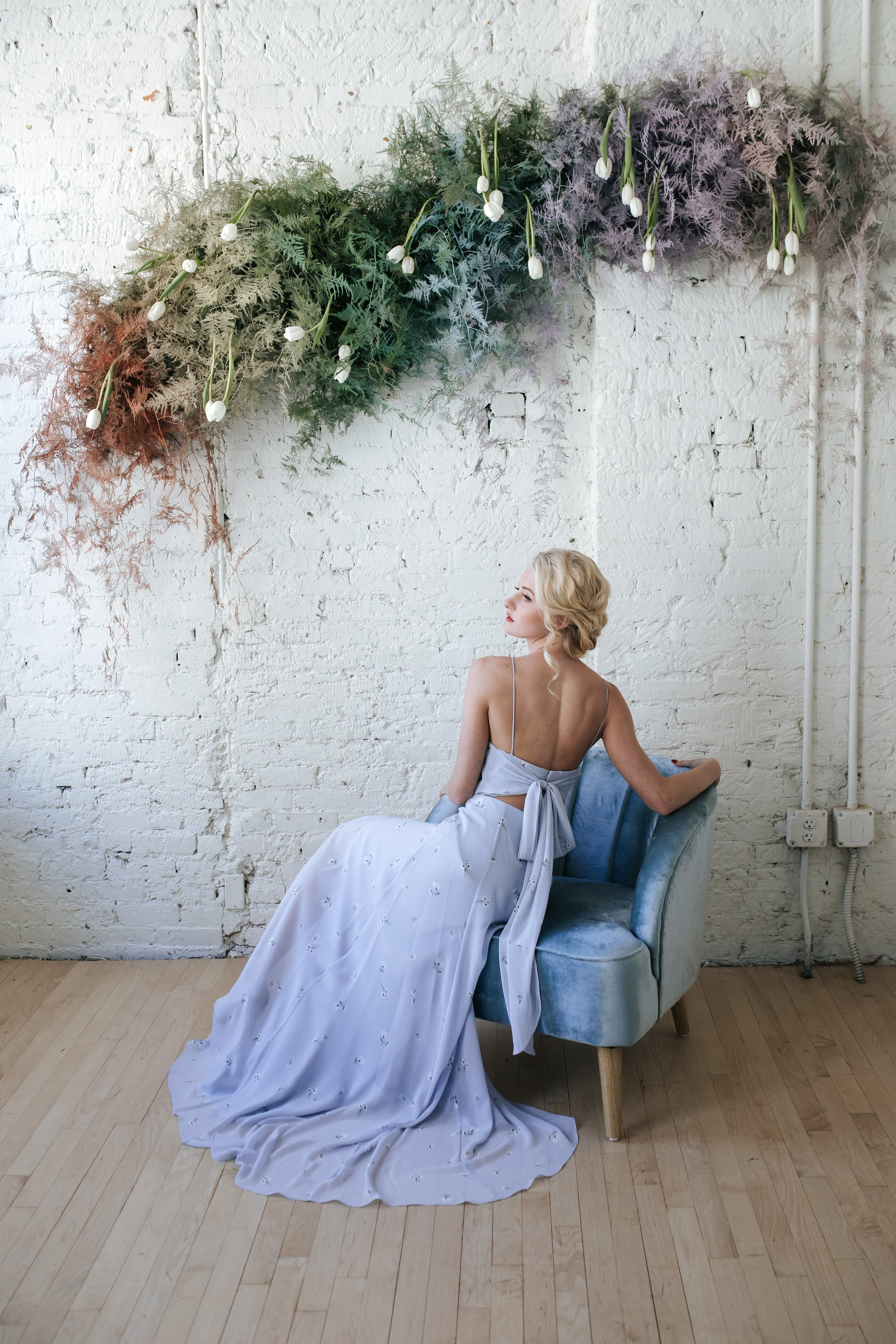 Kiara dress by Jenny Yoo Bridesmaids featured in Columbus Ohio styled shoot