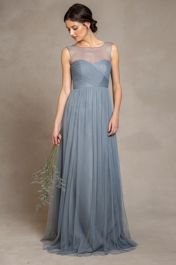 Aria in Mayan Blue soft tulle by Jenny Yoo Bridesmaids