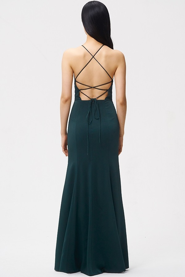Luxe Crepe style Naomi with criss cross strappy back detail by Jenny Yoo
