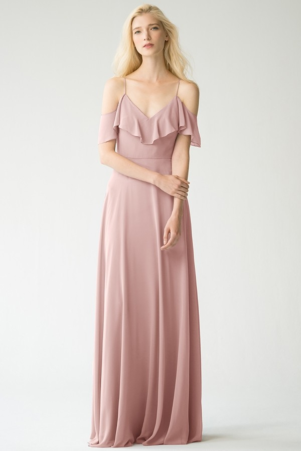 Bestselling Mila by Jenny Yoo Bridesmaids in whipped apricot luxe chiffon