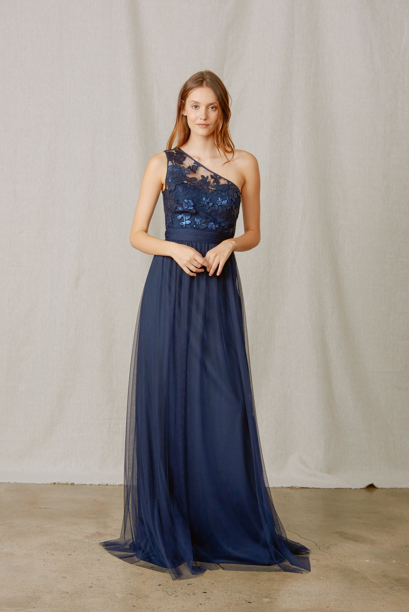 Ashlynn style by Amsale Bridesmaids in sequin lace and tulle