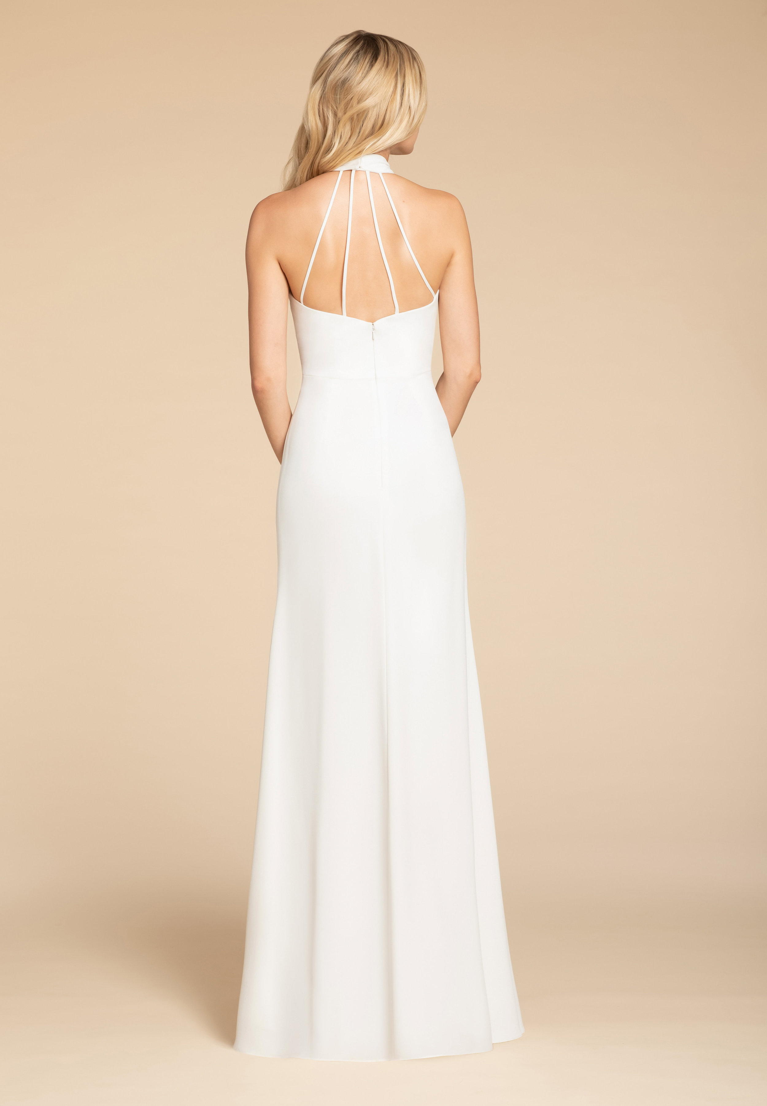 Four strap detail of Meghan Markle inspired bridesmaid dress by Hayley Paige Occasions
