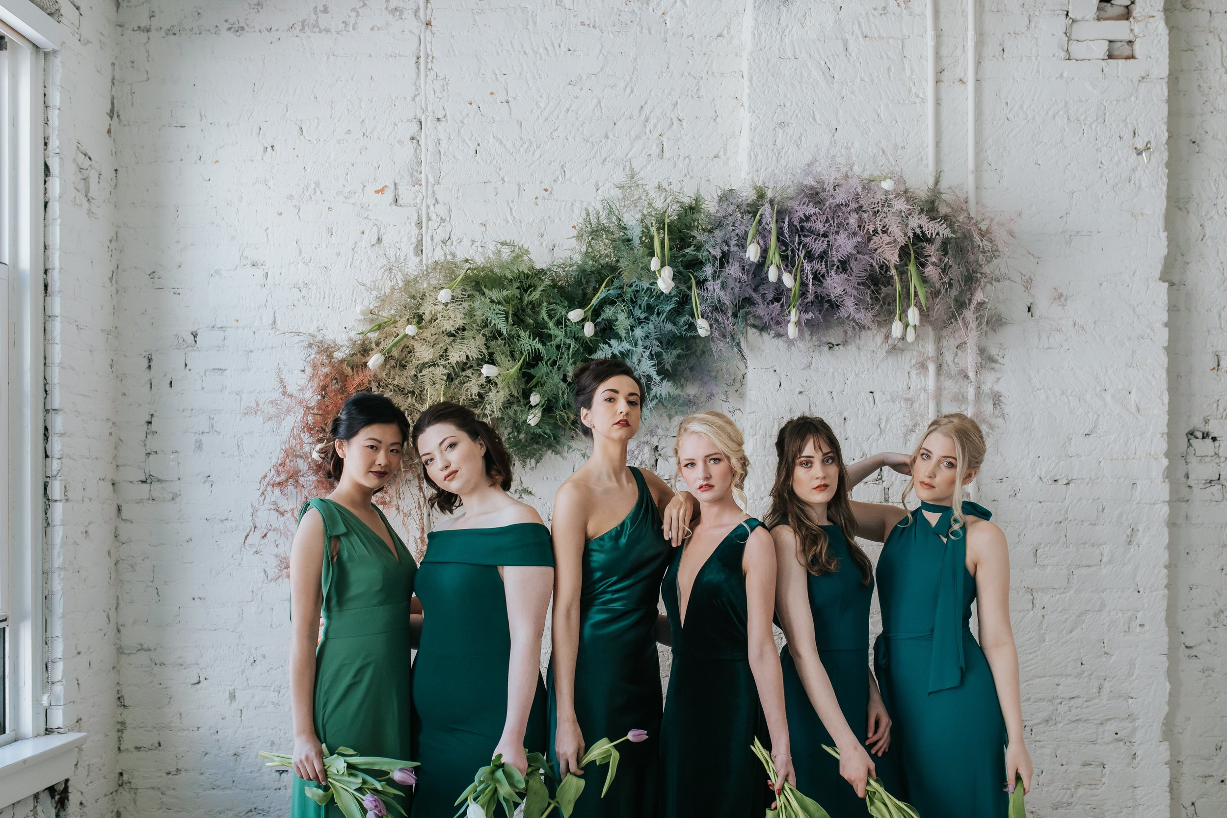Amsale Dessy and Jenny Yoo Bridesmaids mix and match dresses