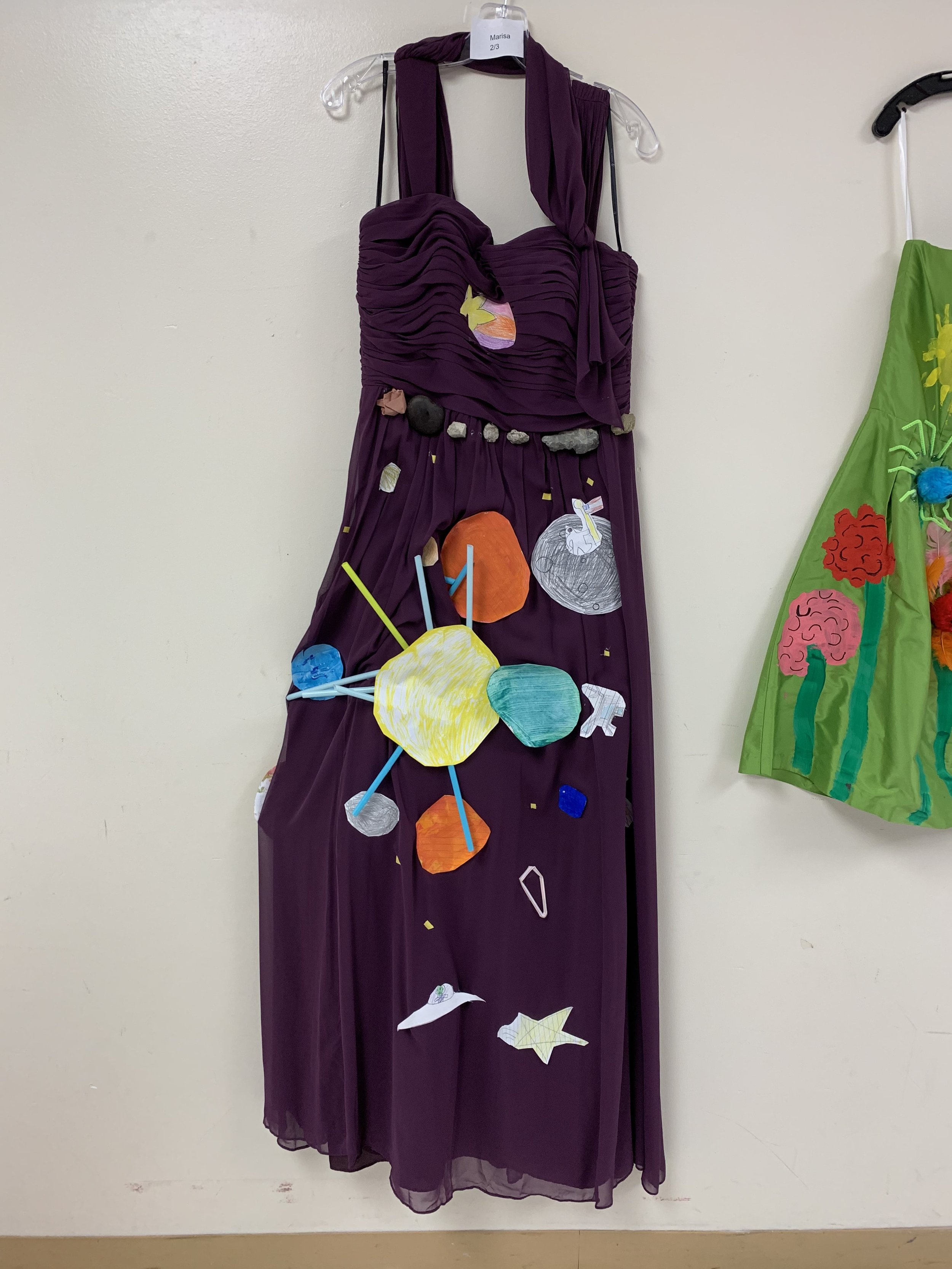 Elementary schoolers decorate dresses in honor of Ann Cole Lowe