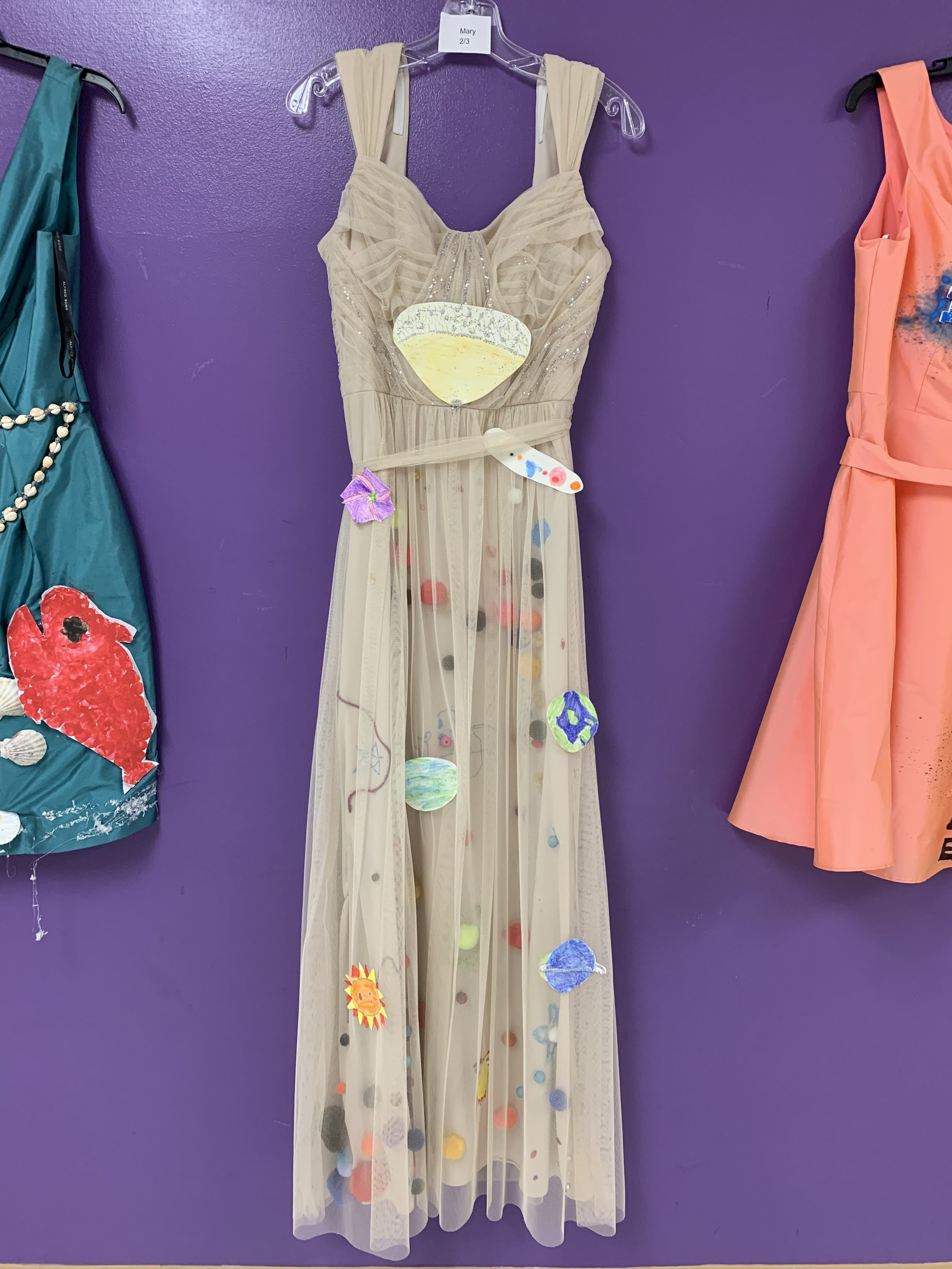 Our dresses on display as part of art unit on Ann Cole Lowe