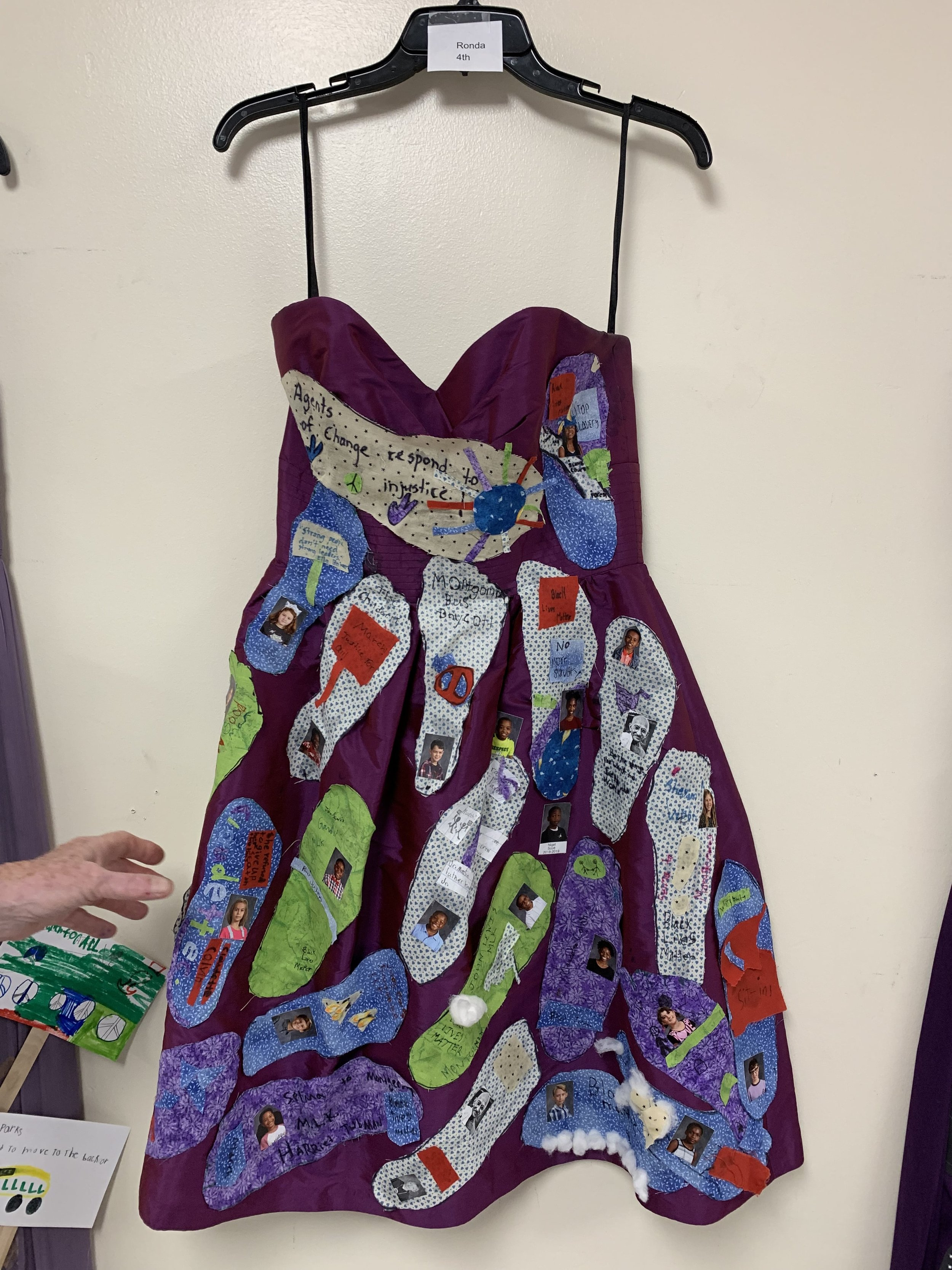 Art celebration by Elementary school students uses donated dresses from Gilded Social
