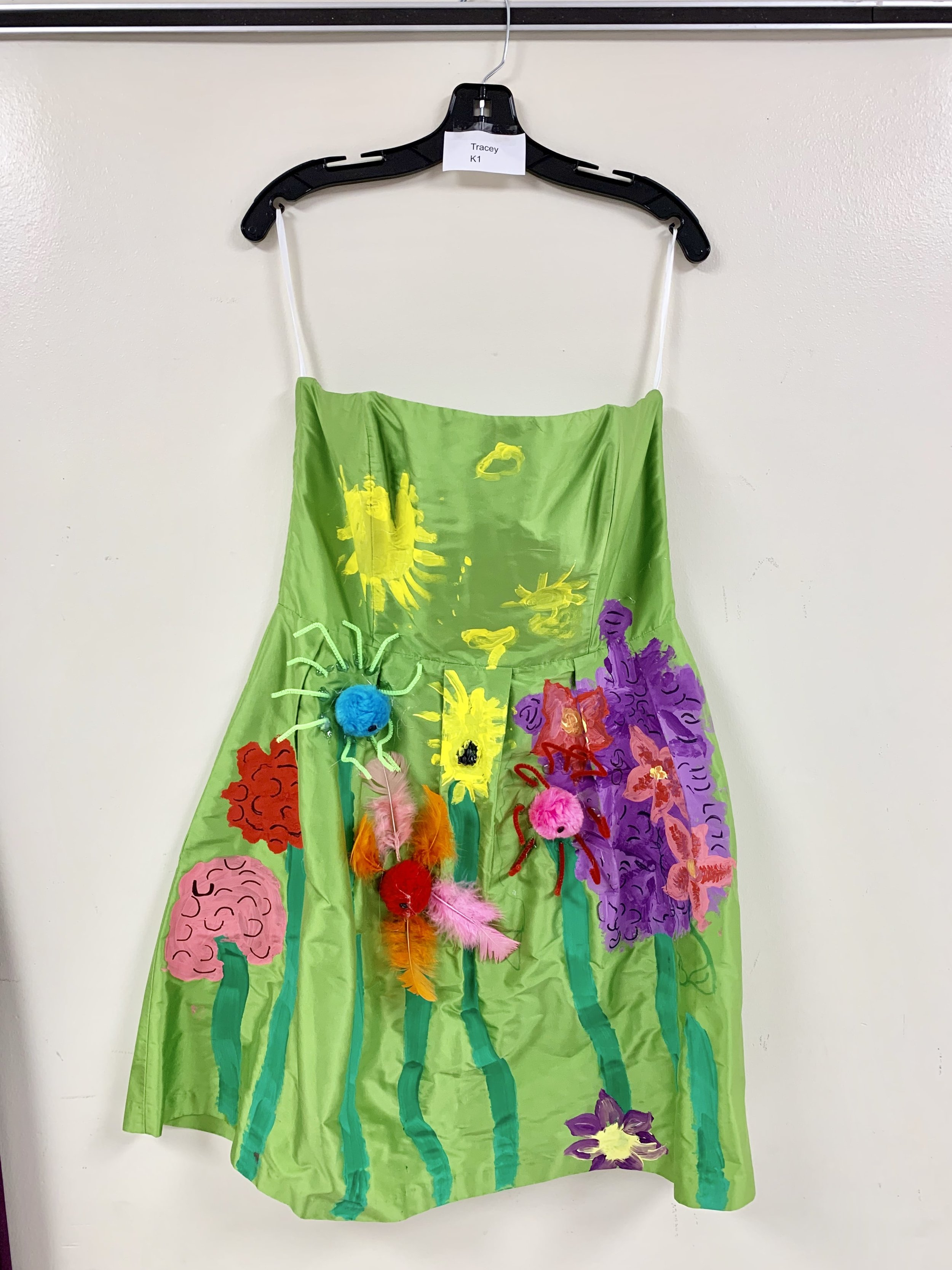 Kindergarteners decorate dress in art education unit