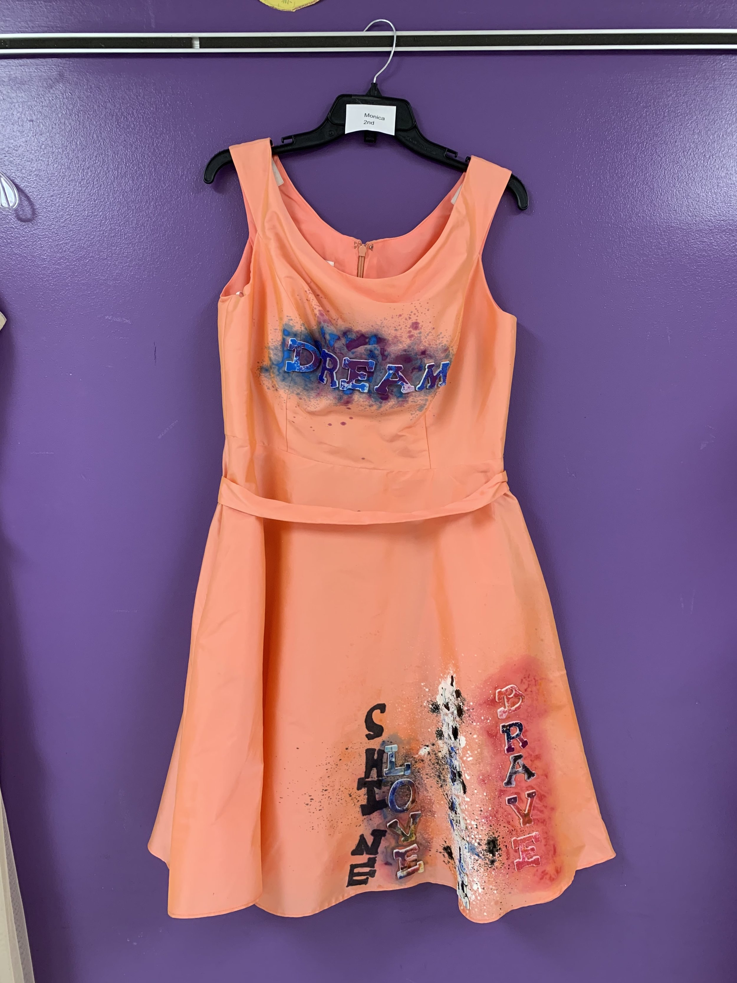 Elementary schoolers use dresses in art unit about Ann Cole Lowe