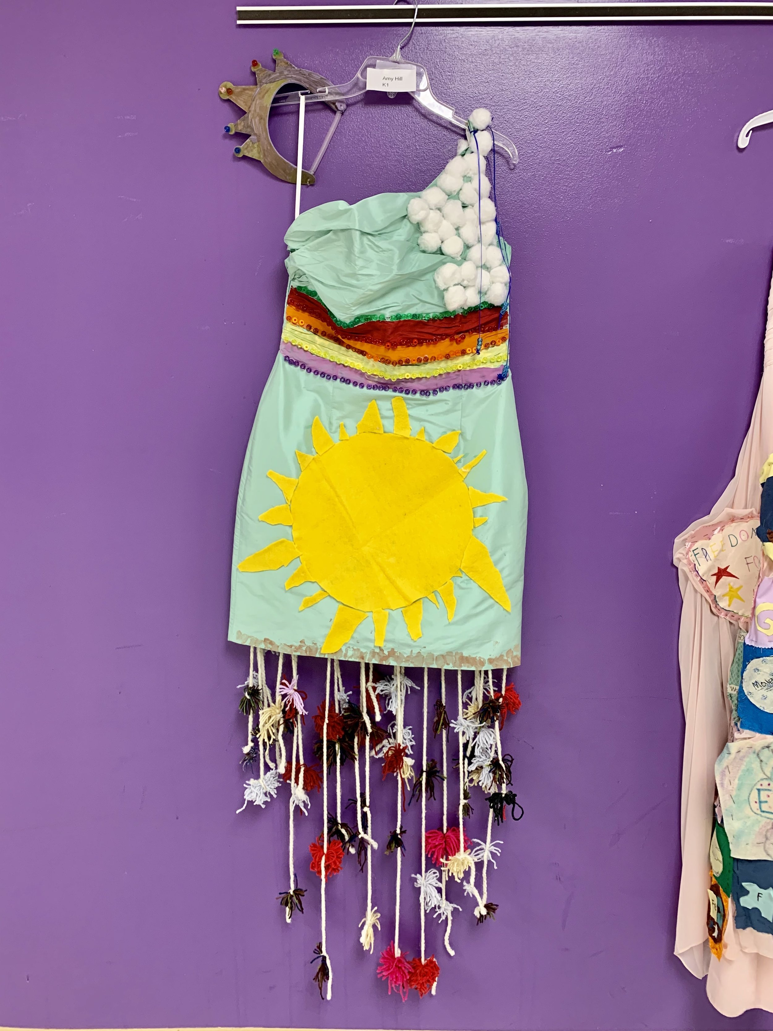 Columbus Ohio Elementary school students use donated dresses from Gilded Social for art