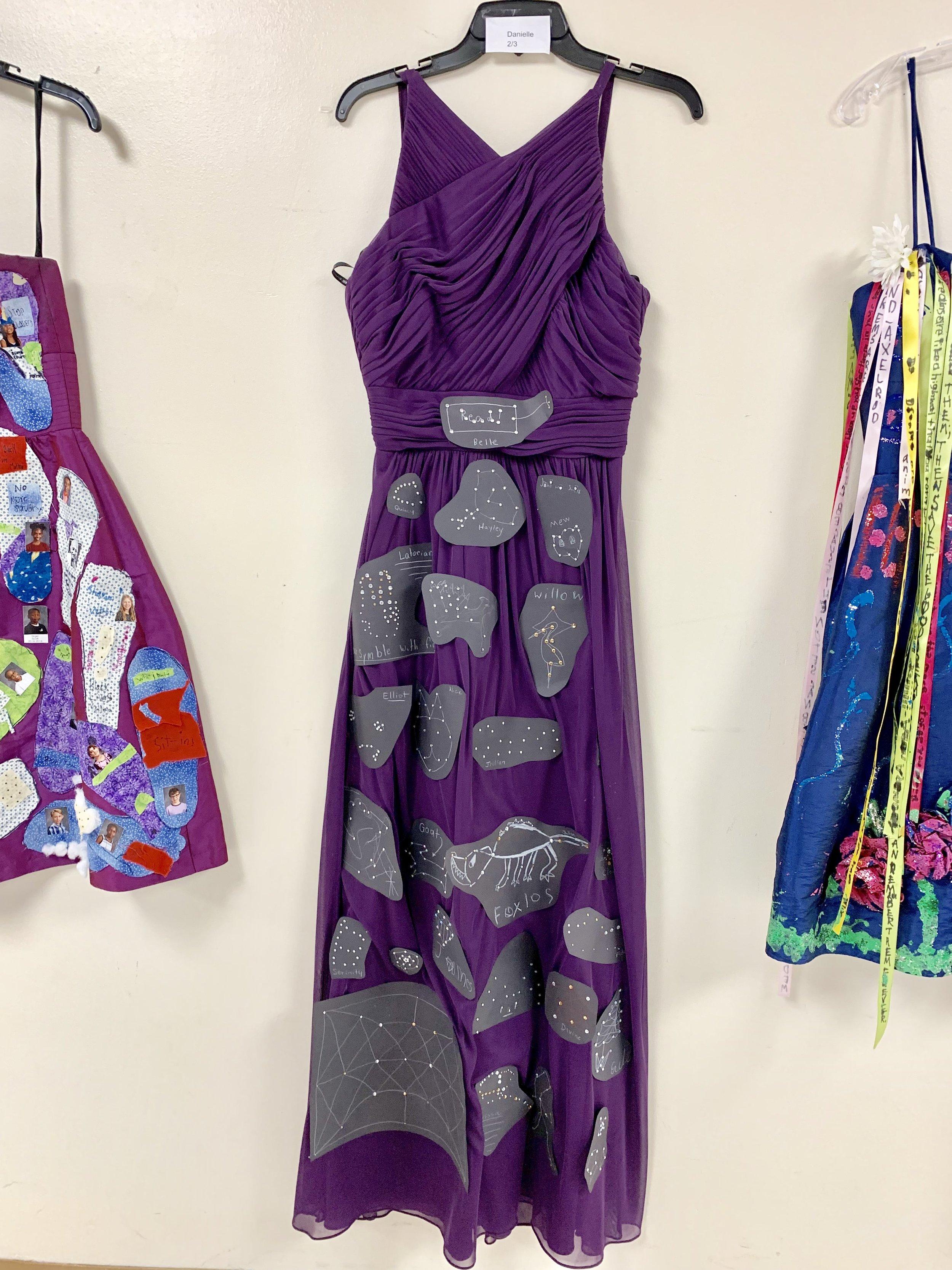 Columbus Ohio dress shop donates dresses for art education for elementary schoolers