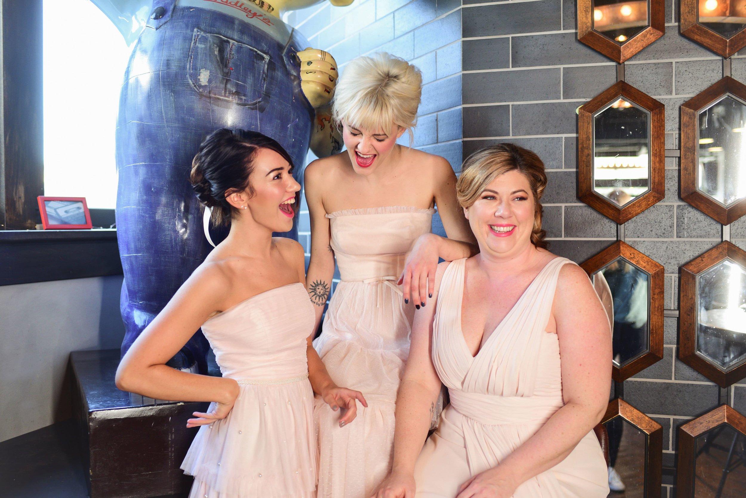 Blush bridesmaids dresses at Hadley's in Columbus Ohio
