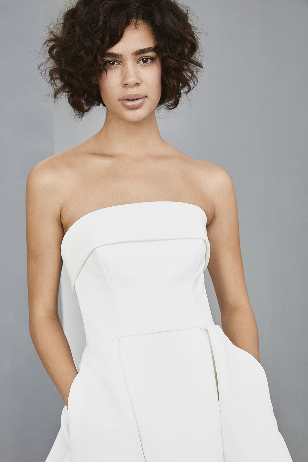Rehearsal dinner dress by Amsale Little White Dresses with pockets