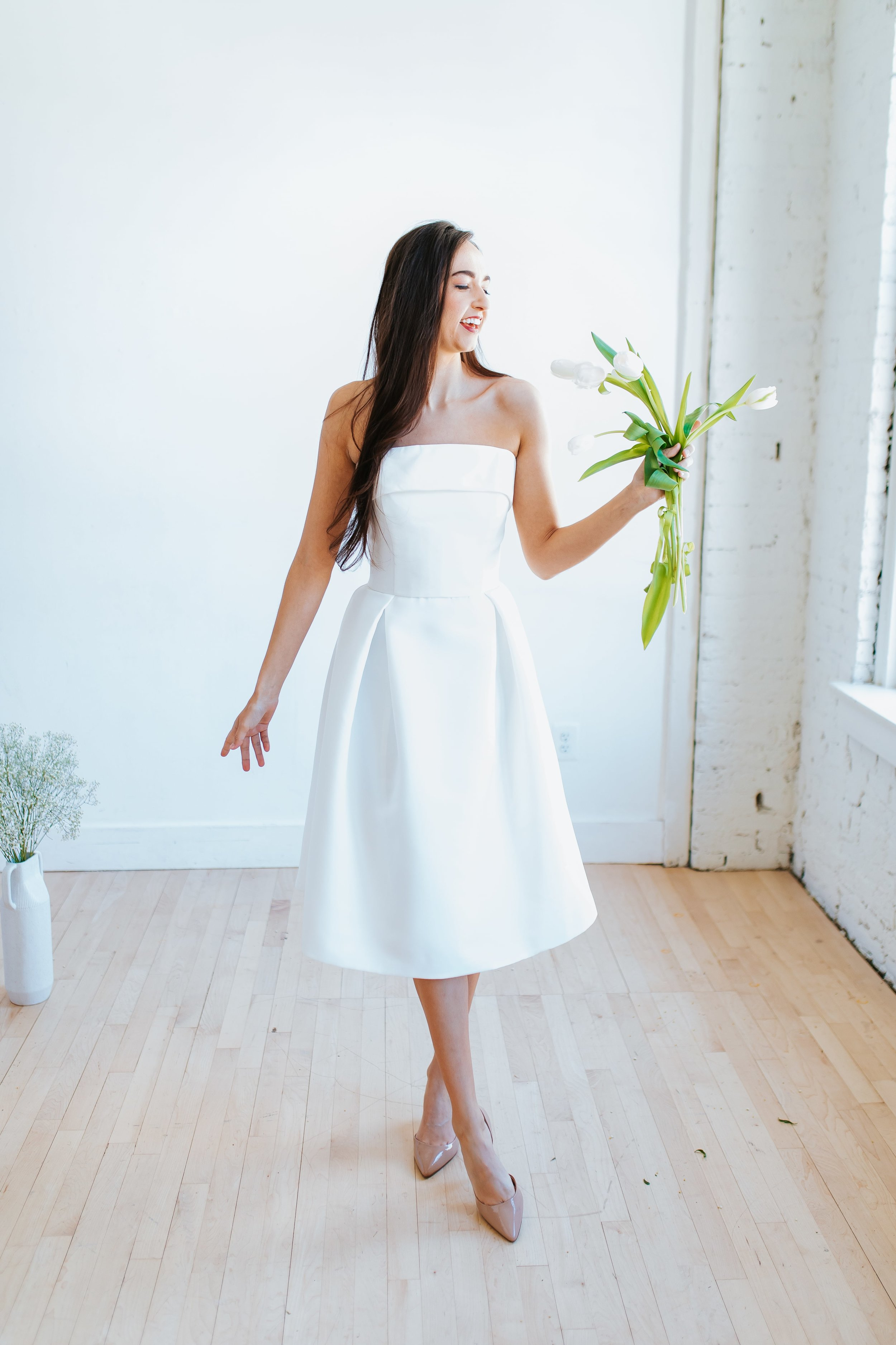 Styled shoot in Columbus Ohio featuring LW140 by Amsale Little White Dresses