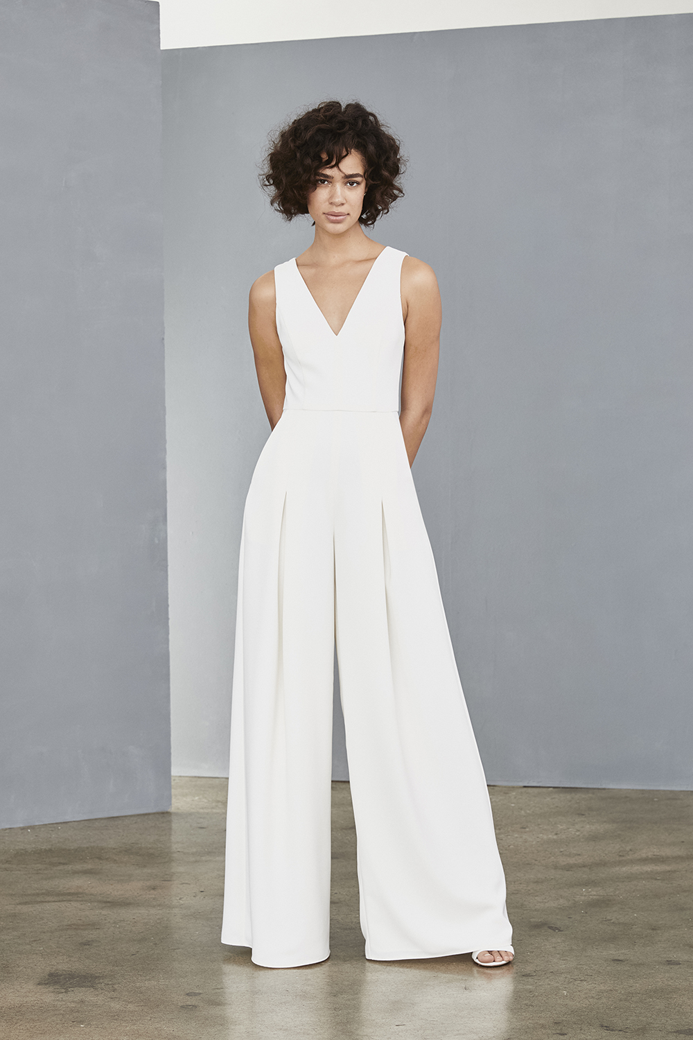 Jumpsuit style LW136 in ivory by Amsale Little White Dresses