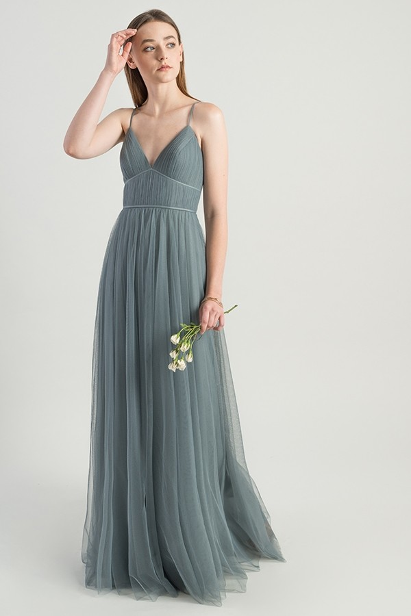 Mayan Blue soft tulle style Ali by Jenny Yoo Bridesmaids