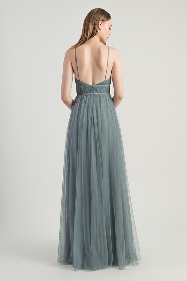 Back of Ali dress by Jenny Yoo Bridesmaids in Mayan Blue