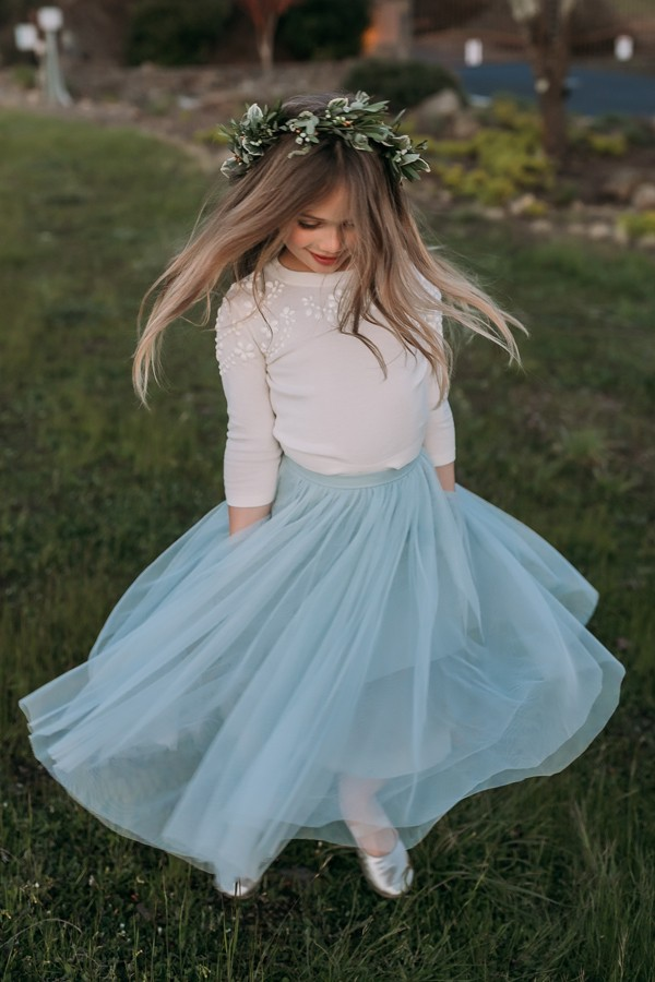 Mini Lucy flower girl skirt by Jenny Yoo Collection at Gilded Social in Columbus Ohio