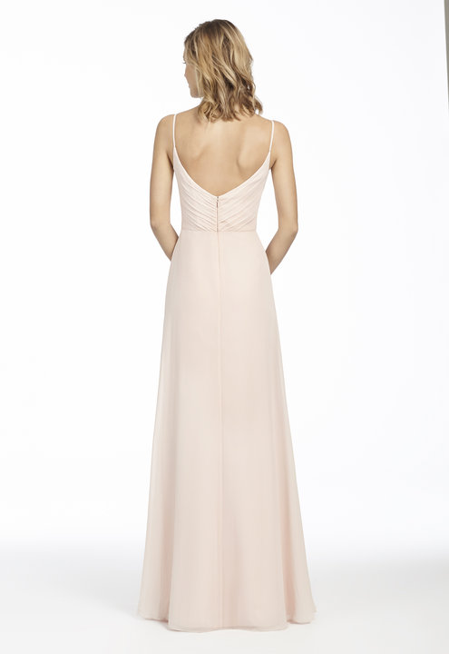 Back ruched detail of Hayley Paige Occasions bridesmaids style 5763